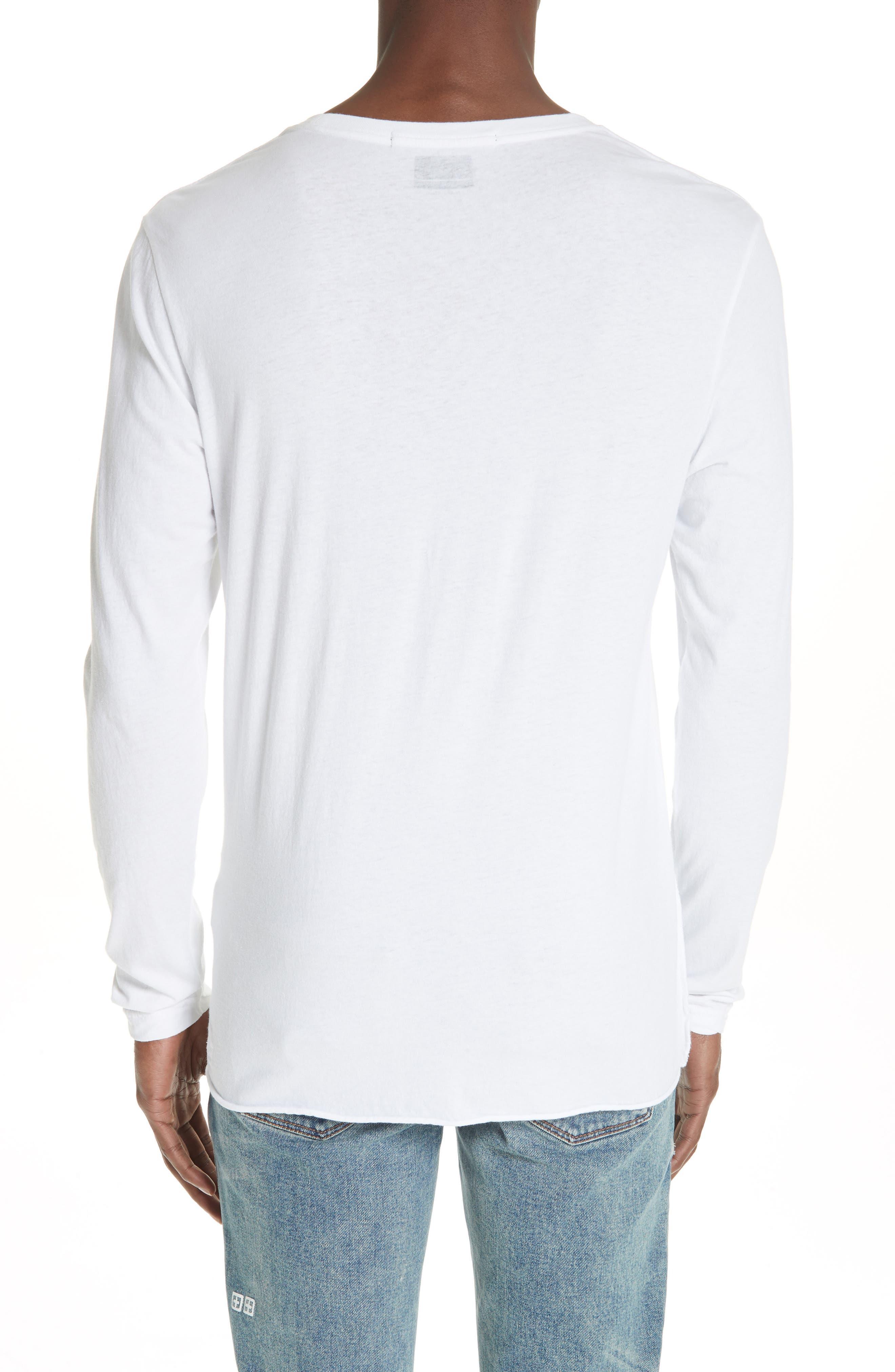 No Bomb Graphic Long Sleeve T-Shirt,                             Alternate thumbnail 2, color,                             WHITE