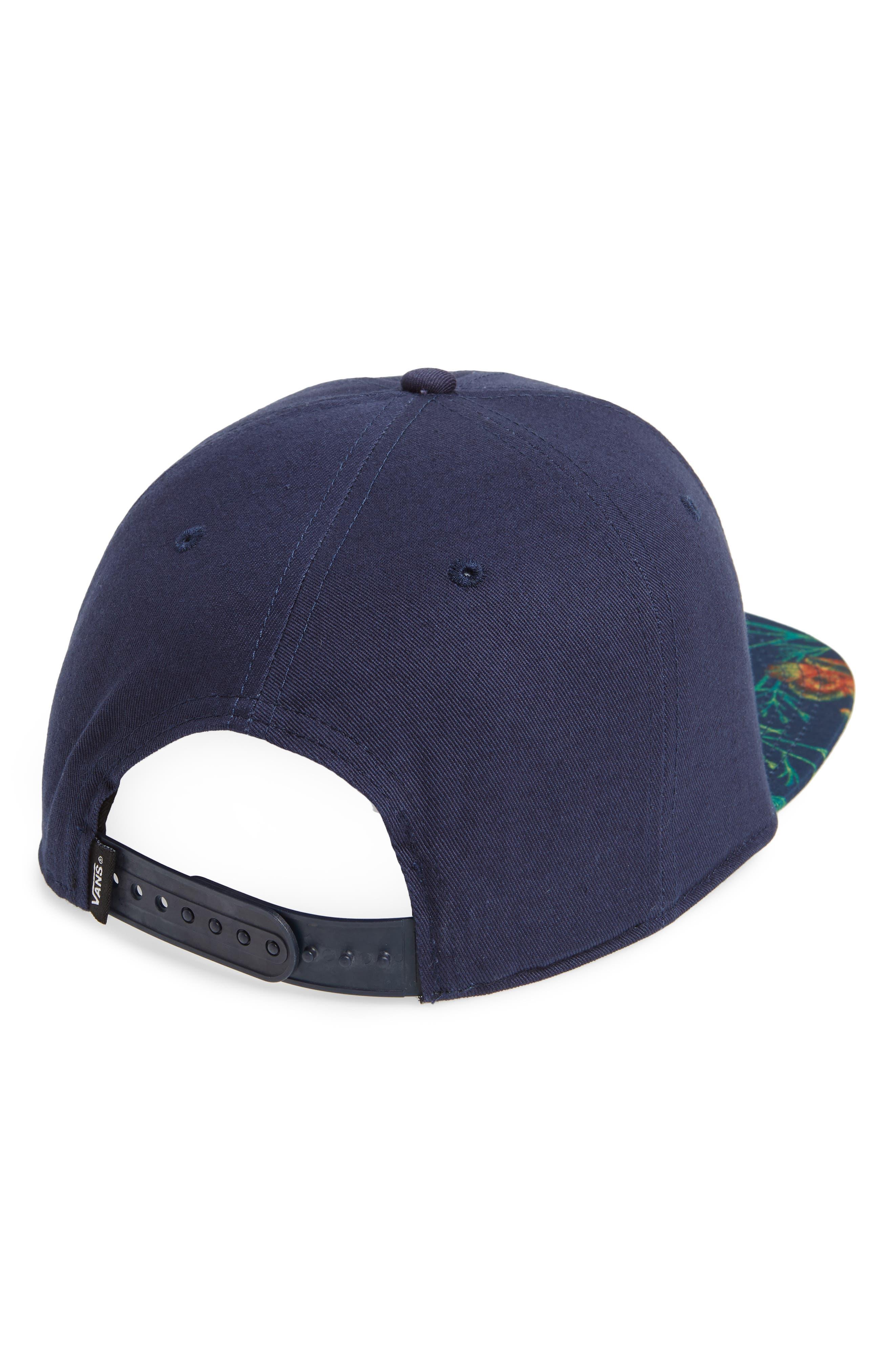 Allover It Flat Brim Cap,                             Alternate thumbnail 2, color,                             DRESS BLUES/ WILDFLOWER