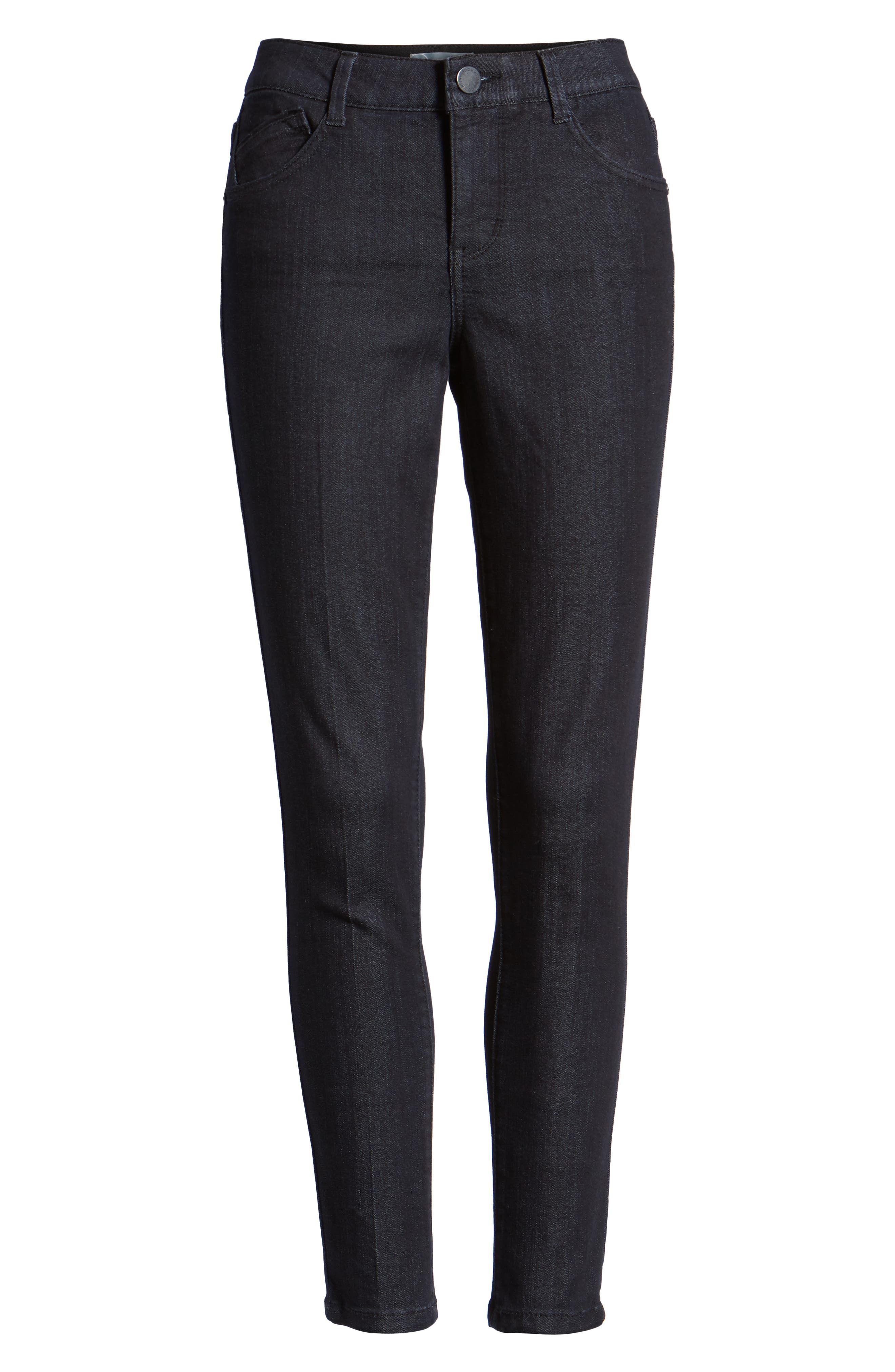 Ab-solution Ankle Skinny Jeans,                             Alternate thumbnail 7, color,                             INDIGO