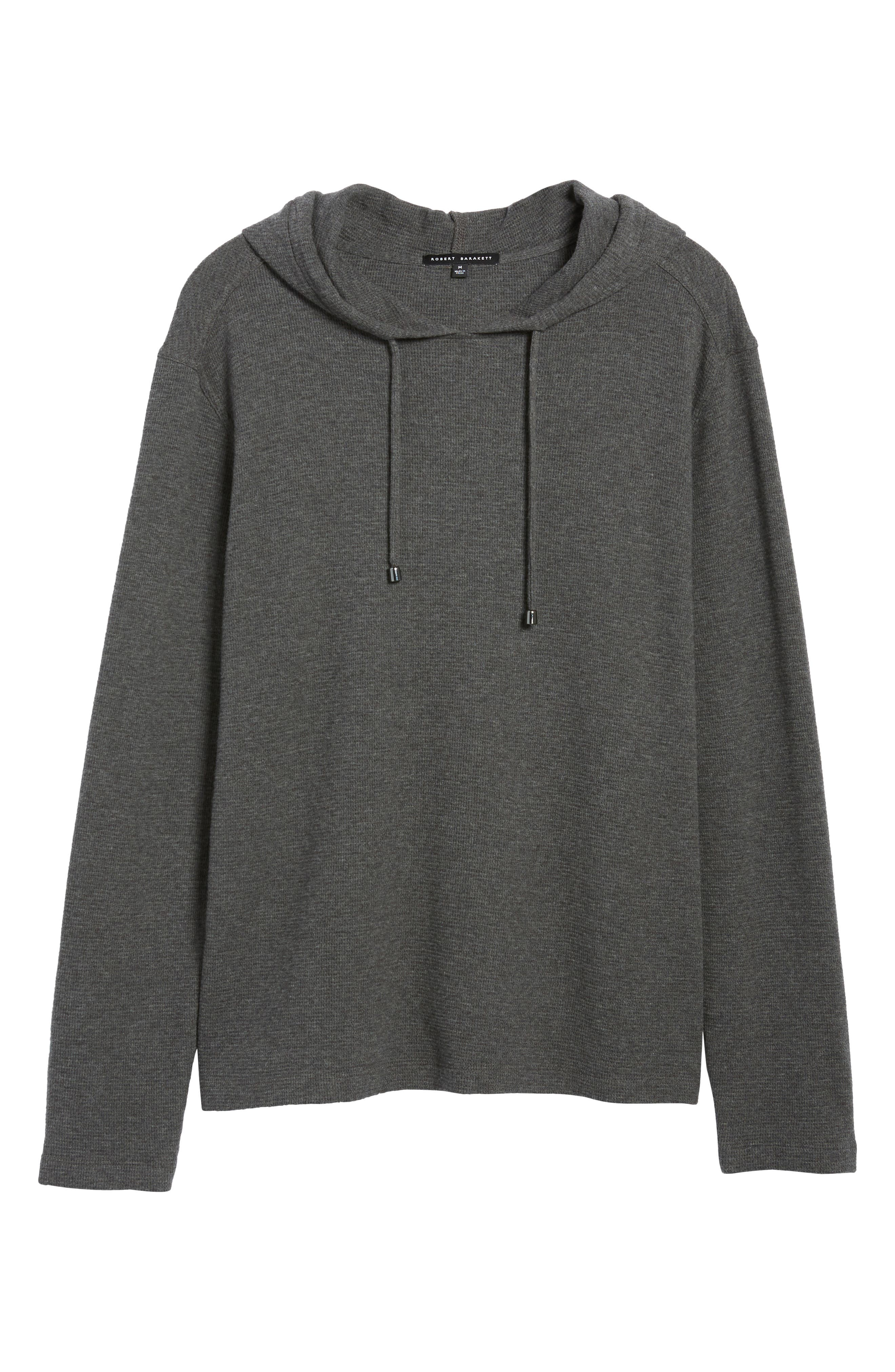 Wilson Pullover Hoodie,                             Alternate thumbnail 6, color,                             CHARCOAL