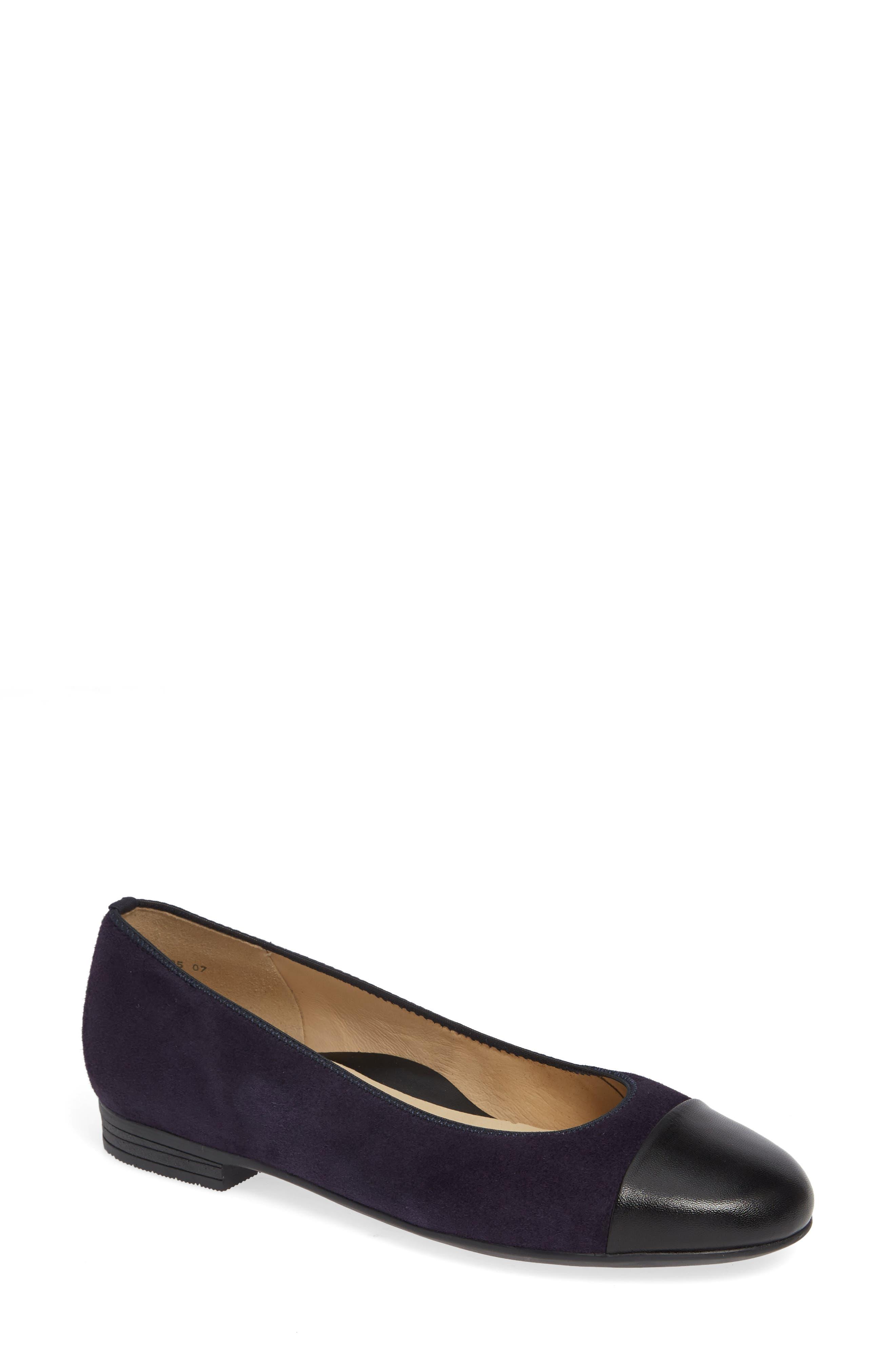 Ara Sally Cap Toe Ballet Flat- Purple