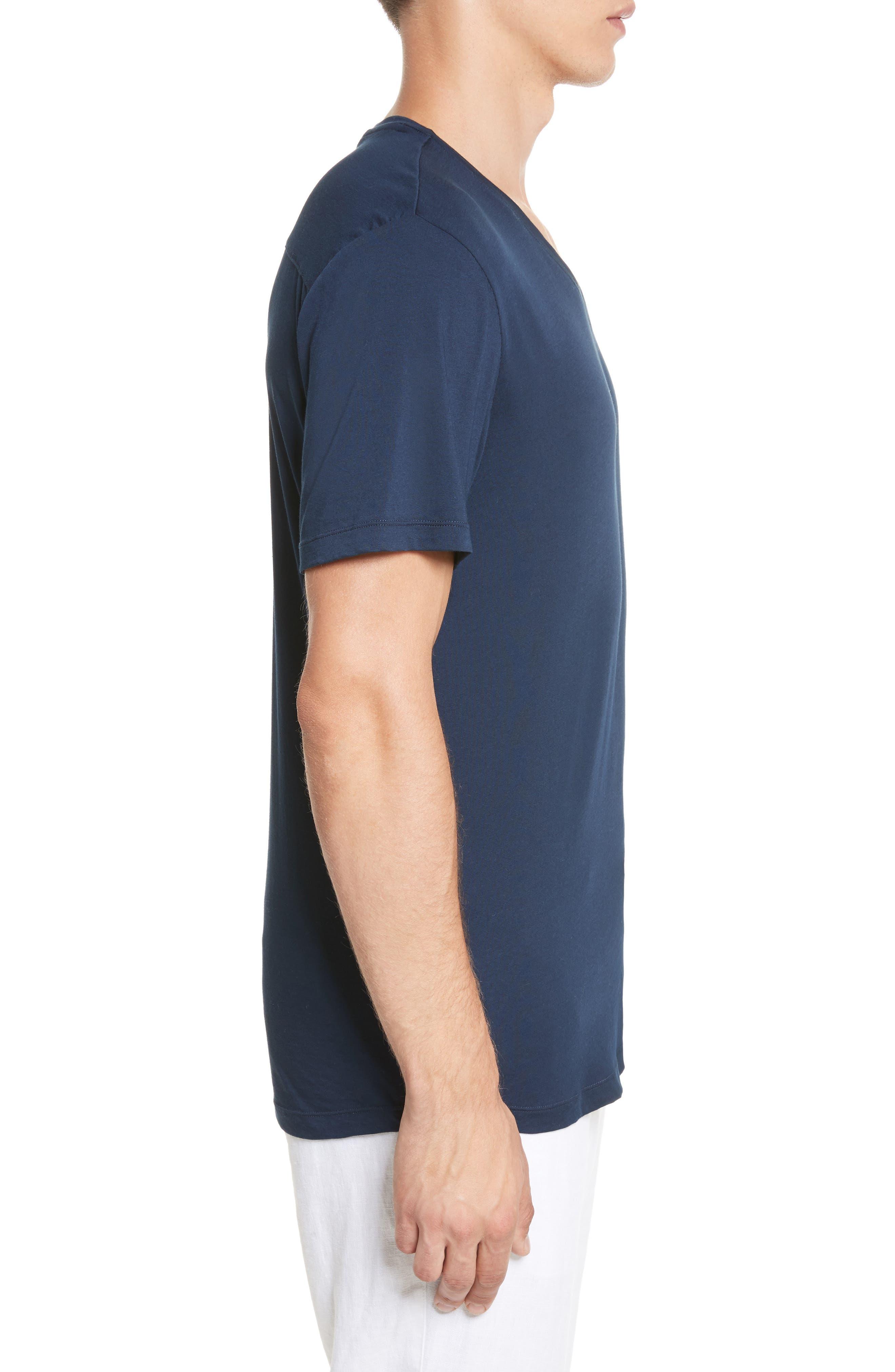 Joey V-Neck T-shirt,                             Alternate thumbnail 3, color,                             419