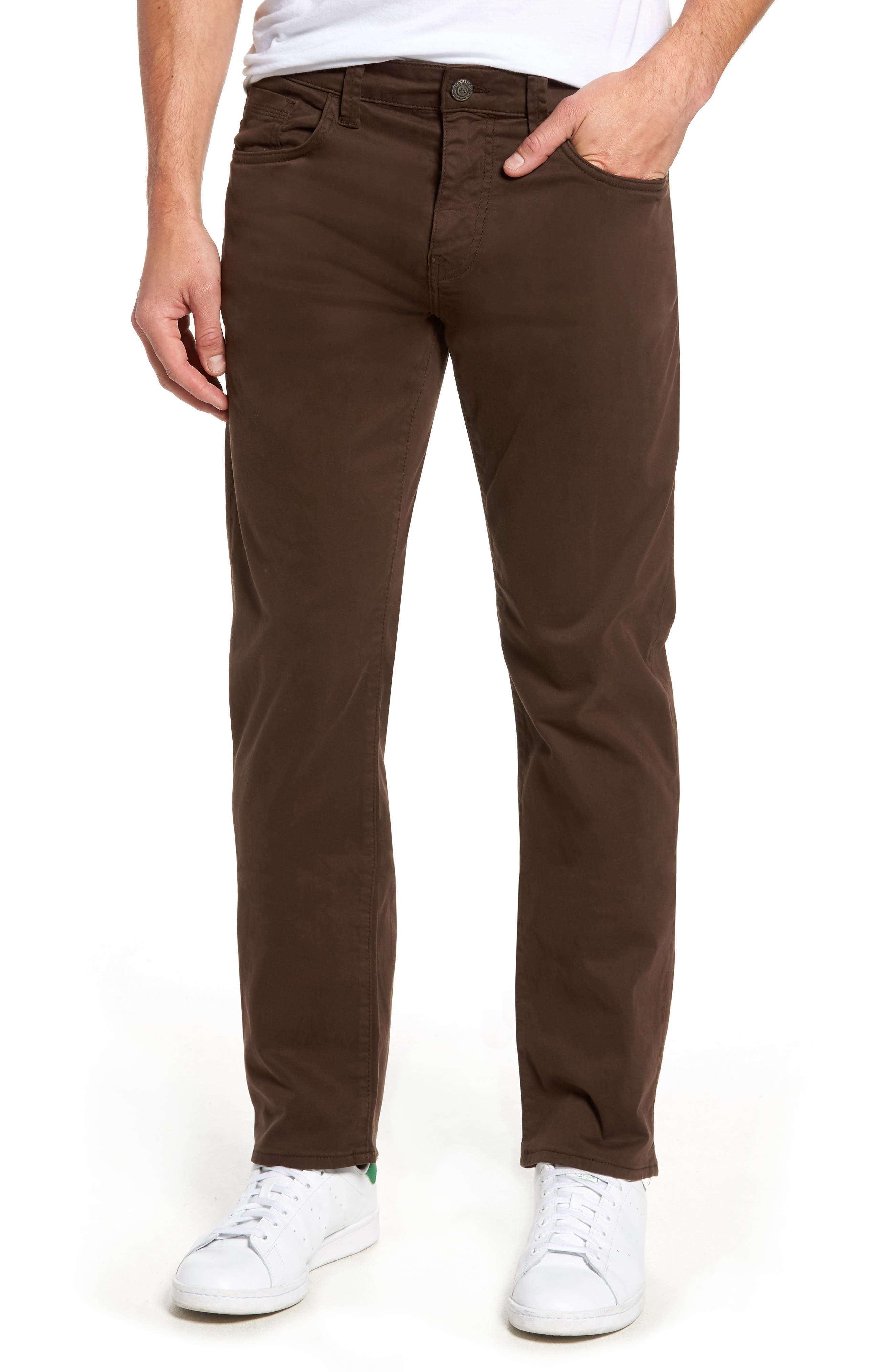 Zach Straight Fit Twill Pants,                             Main thumbnail 1, color,                             COFFEE BEAN TWILL