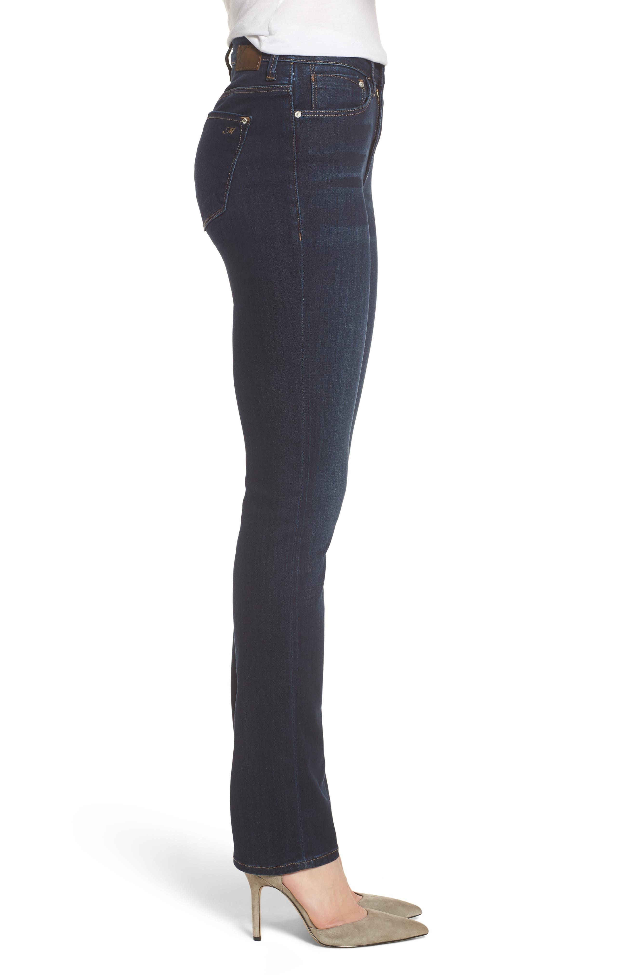 Kendra Straight Leg Jeans,                             Alternate thumbnail 3, color,                             DEEP SUPERSOFT