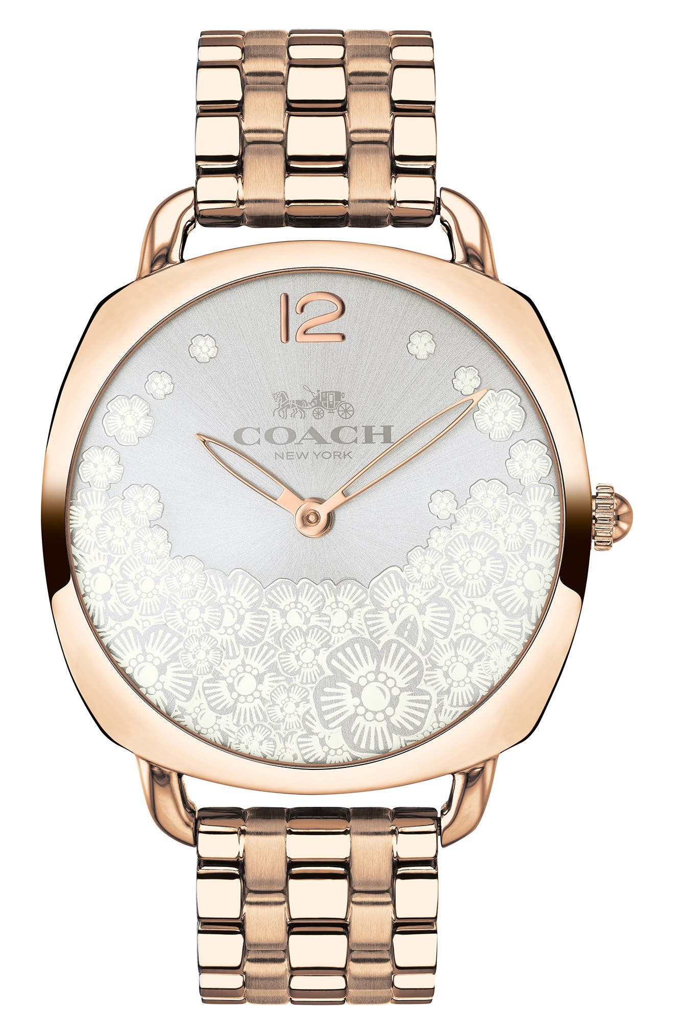Tatum Slim Bracelet Watch, 36mm,                             Main thumbnail 1, color,                             ROSE GOLD/ SILVER