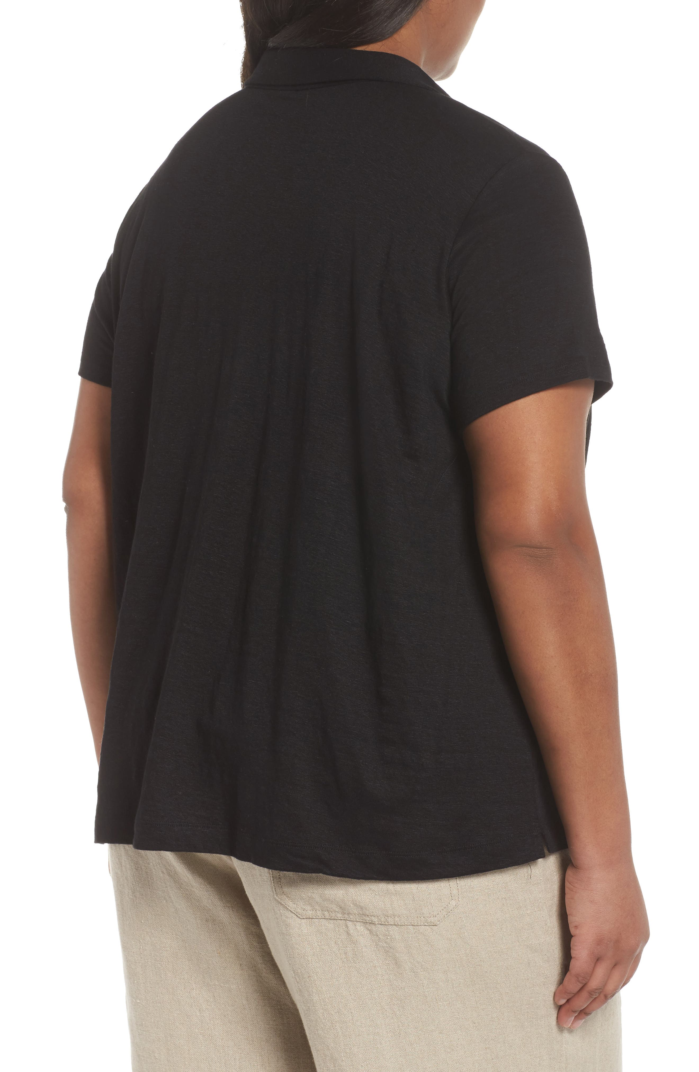 Organic Linen Top,                             Alternate thumbnail 4, color,