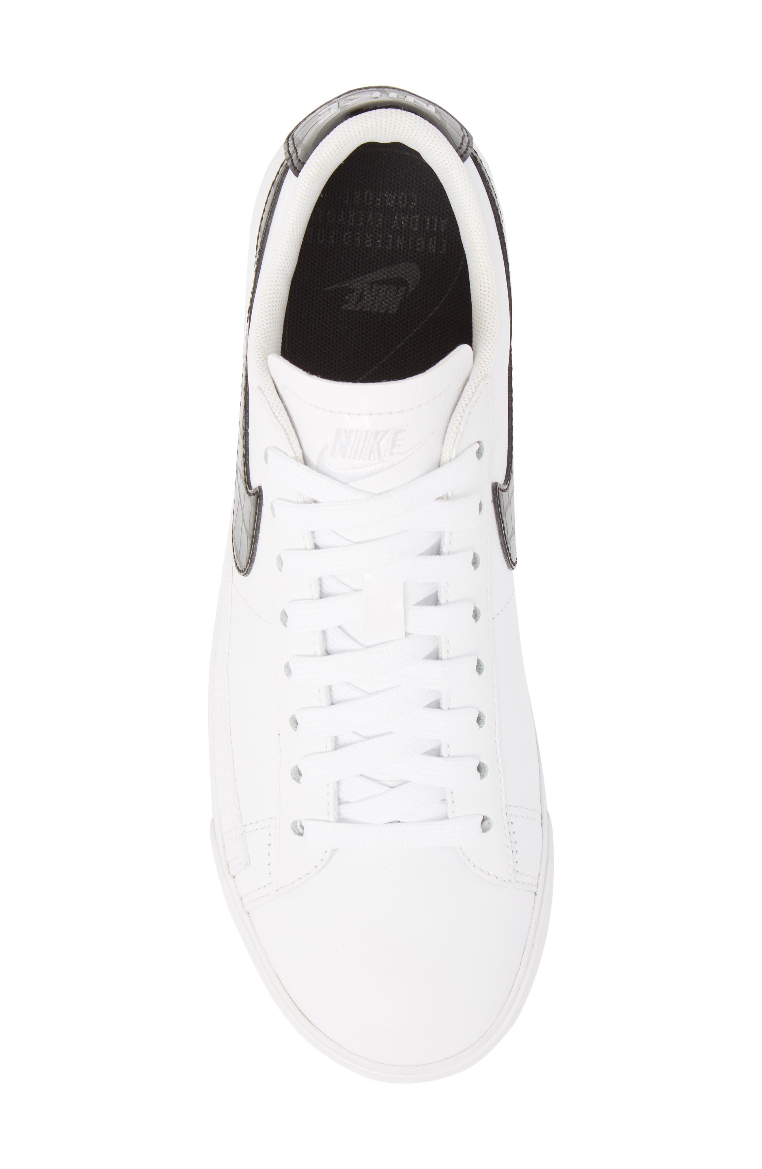 Blazer Low Essential Sneaker,                             Alternate thumbnail 5, color,                             100