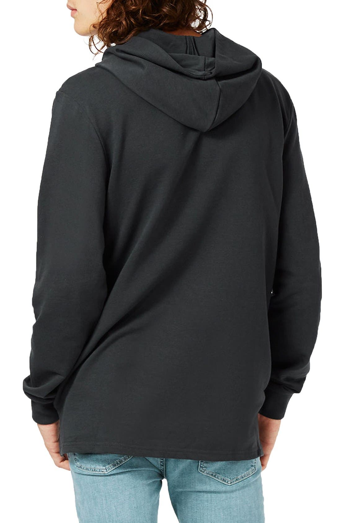 Classic Fit Sound Waves Hoodie,                             Alternate thumbnail 2, color,                             001
