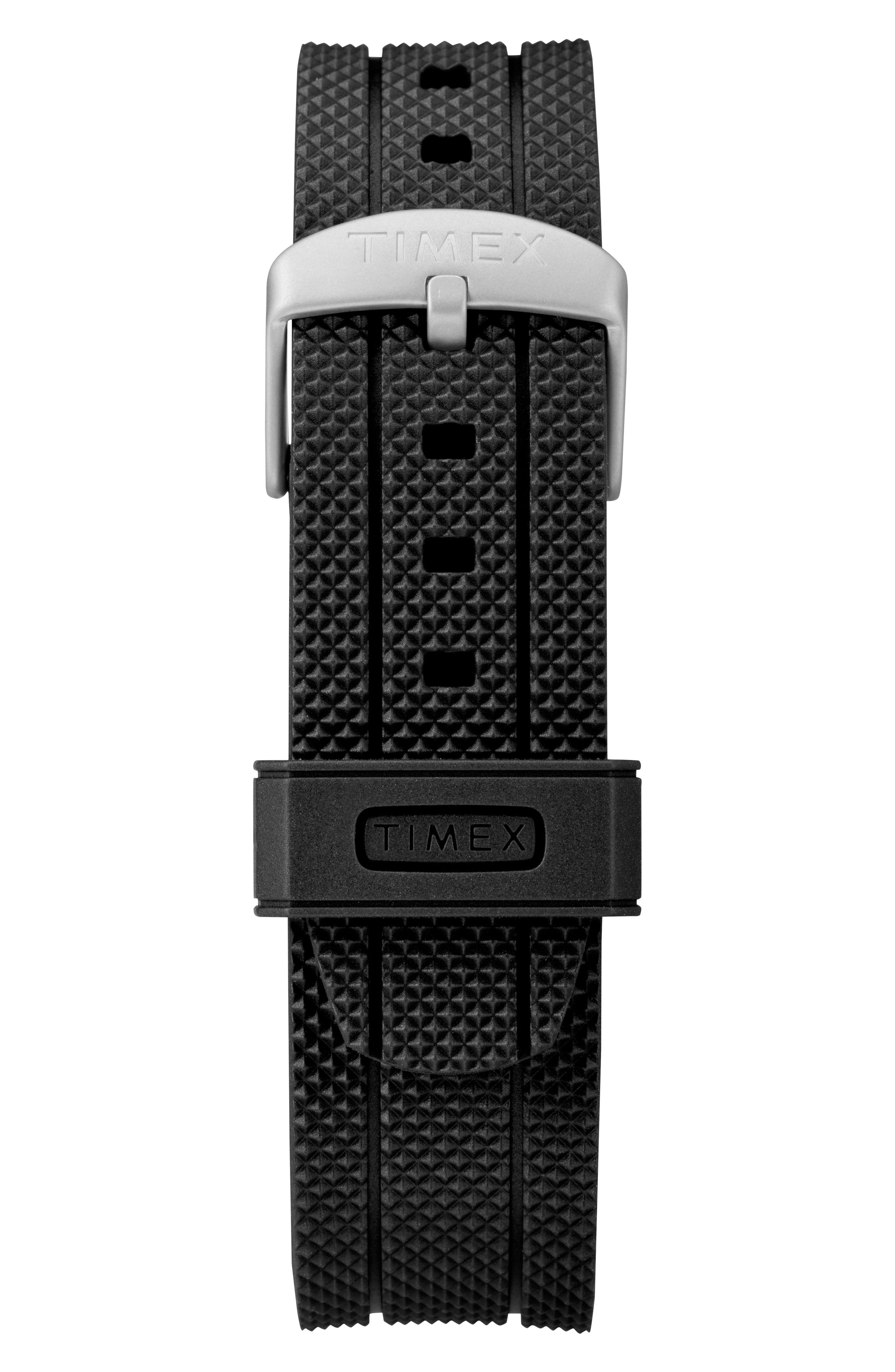 TIMEX<SUP>®</SUP>,                             Allied Silicone Strap Watch, 43mm,                             Alternate thumbnail 3, color,                             007