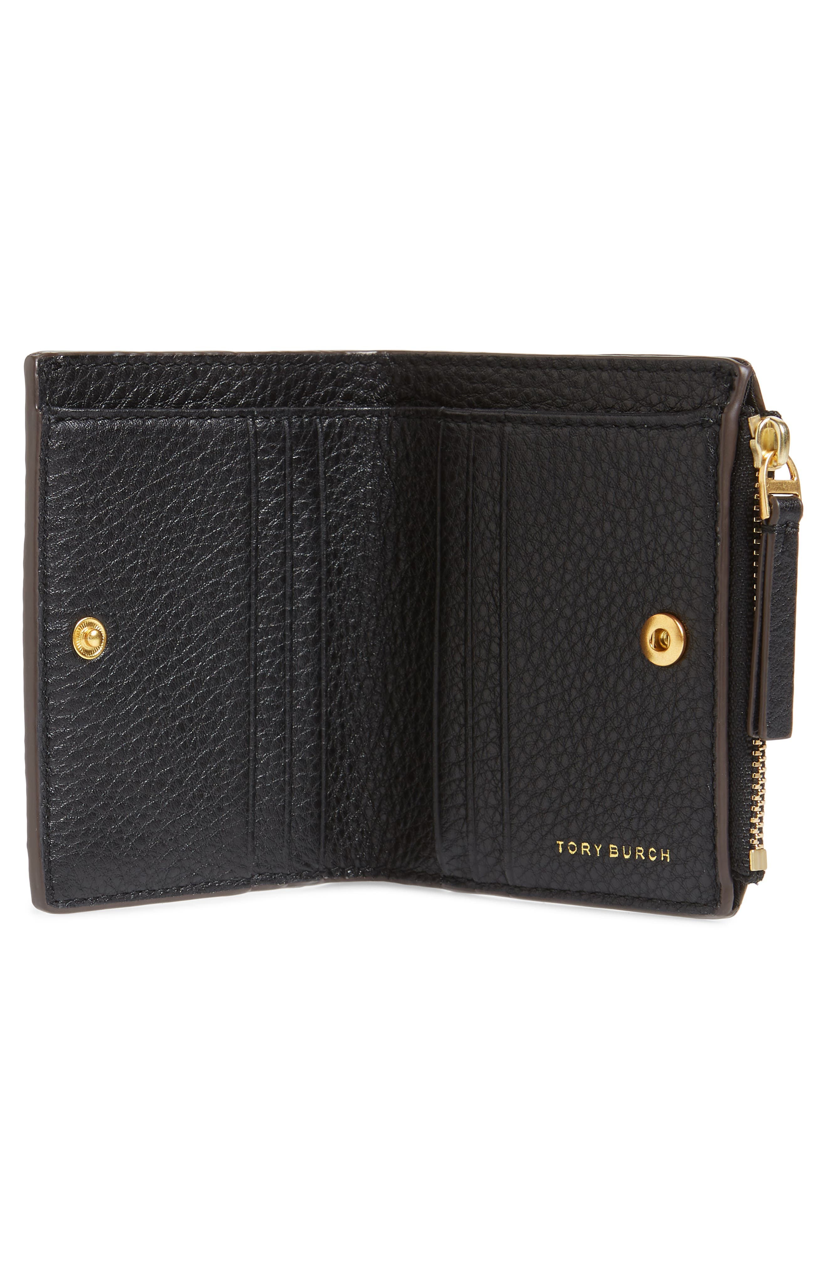TORY BURCH,                             McGraw Leather Bifold Wallet,                             Alternate thumbnail 2, color,                             001