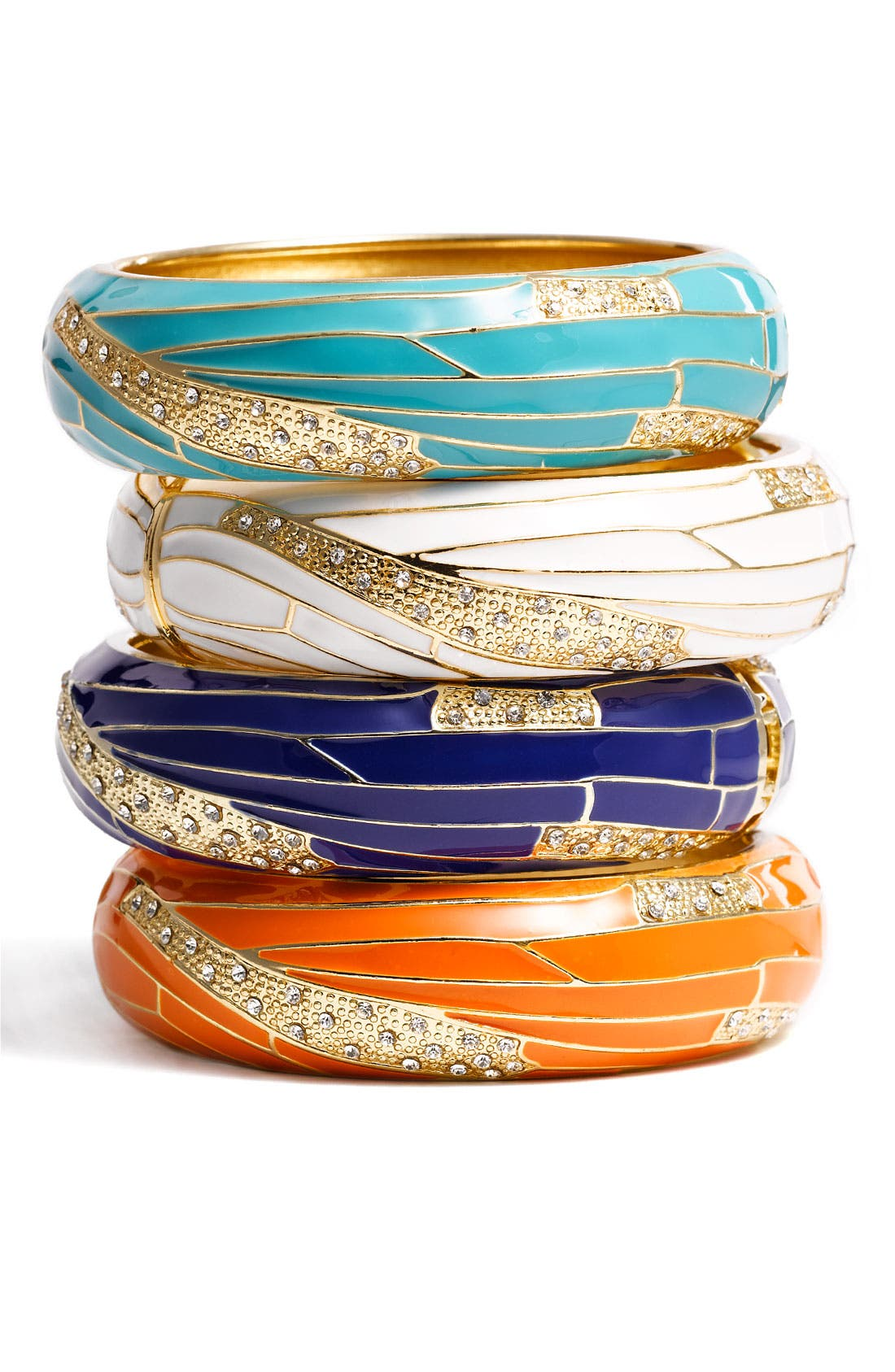 Large Insect Wing Enamel Bangle,                             Main thumbnail 14, color,