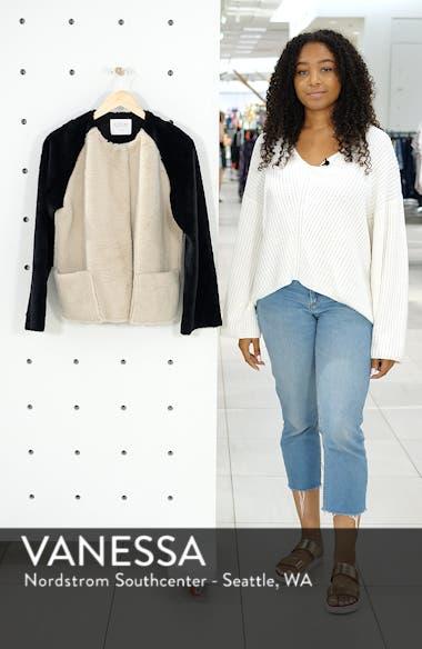 Colorblock Faux Fur Jacket, sales video thumbnail