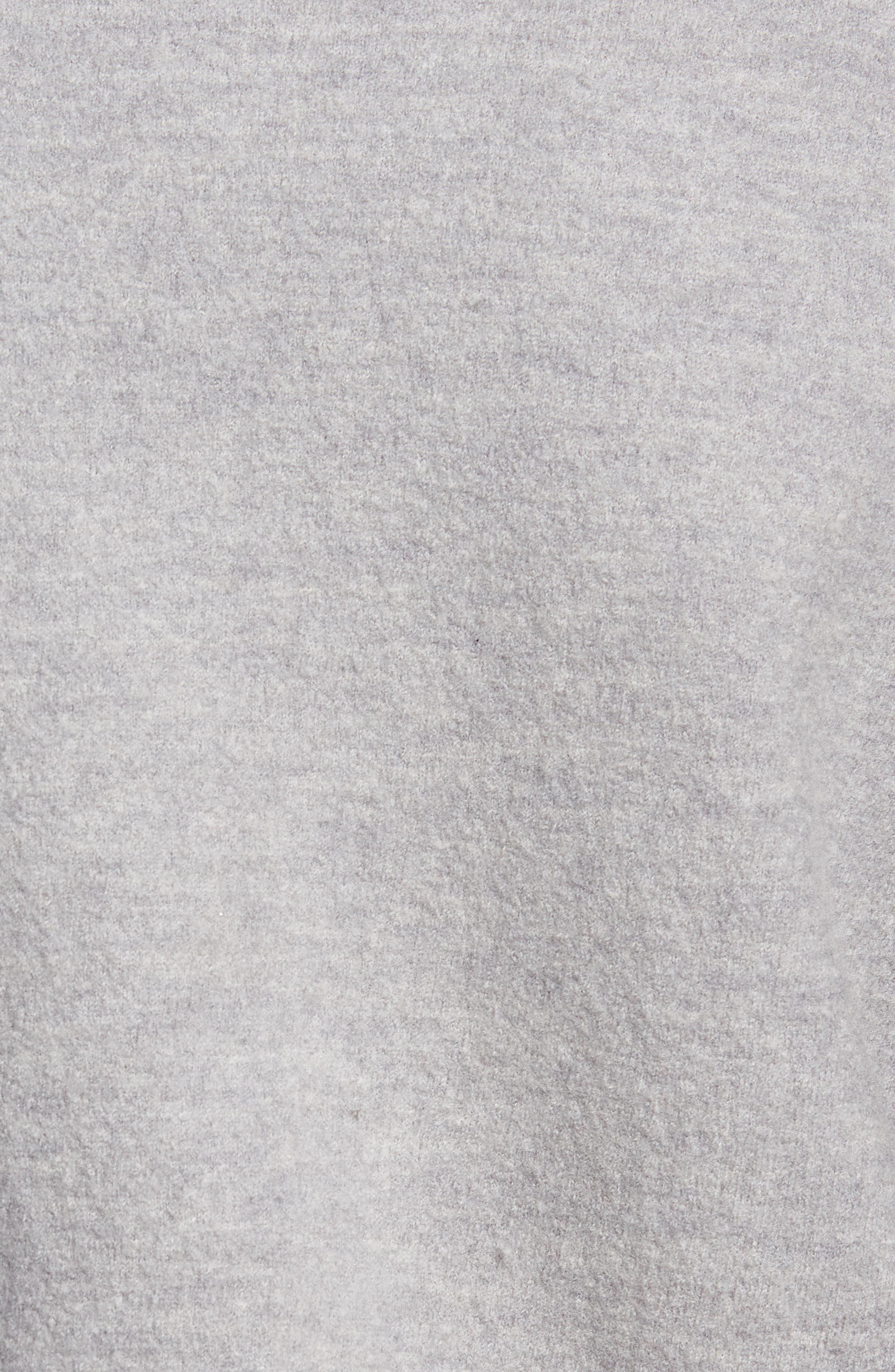 Felted Wool Bomber Jacket,                             Alternate thumbnail 6, color,                             LIGHT GREY MELANGE