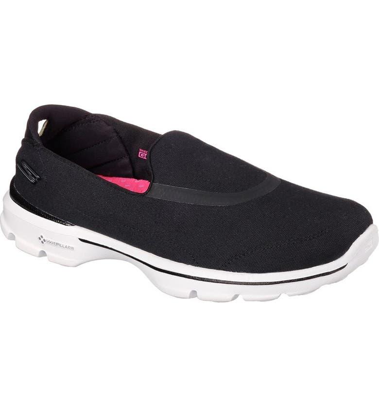 edf62f3d0a3 Skechers Black Go Walk 3 Slip On Shoes - Style Guru  Fashion