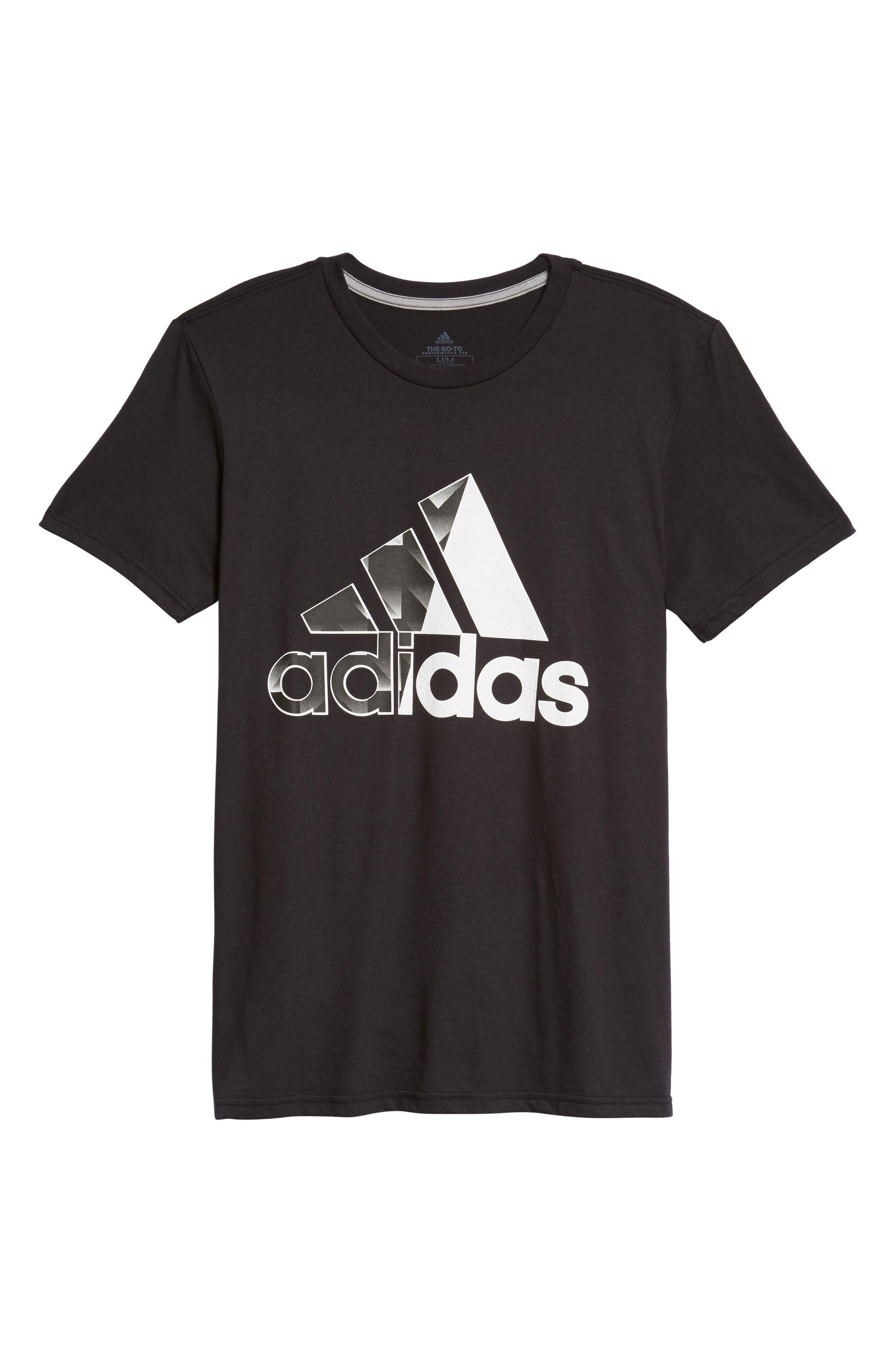 Bos Split T-Shirt,                             Alternate thumbnail 6, color,                             001