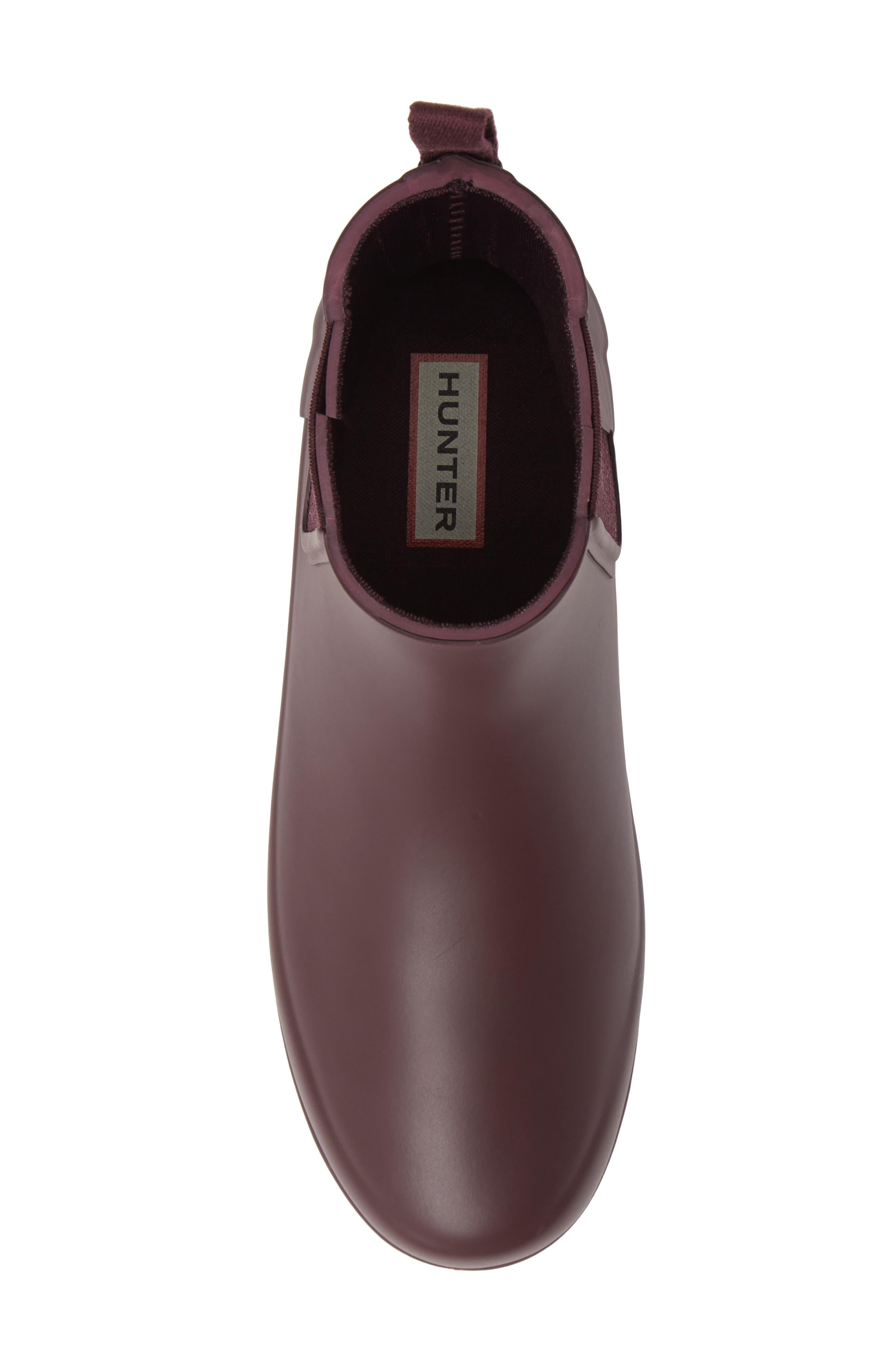 Refined Chelsea Boot,                             Alternate thumbnail 5, color,                             OXBLOOD