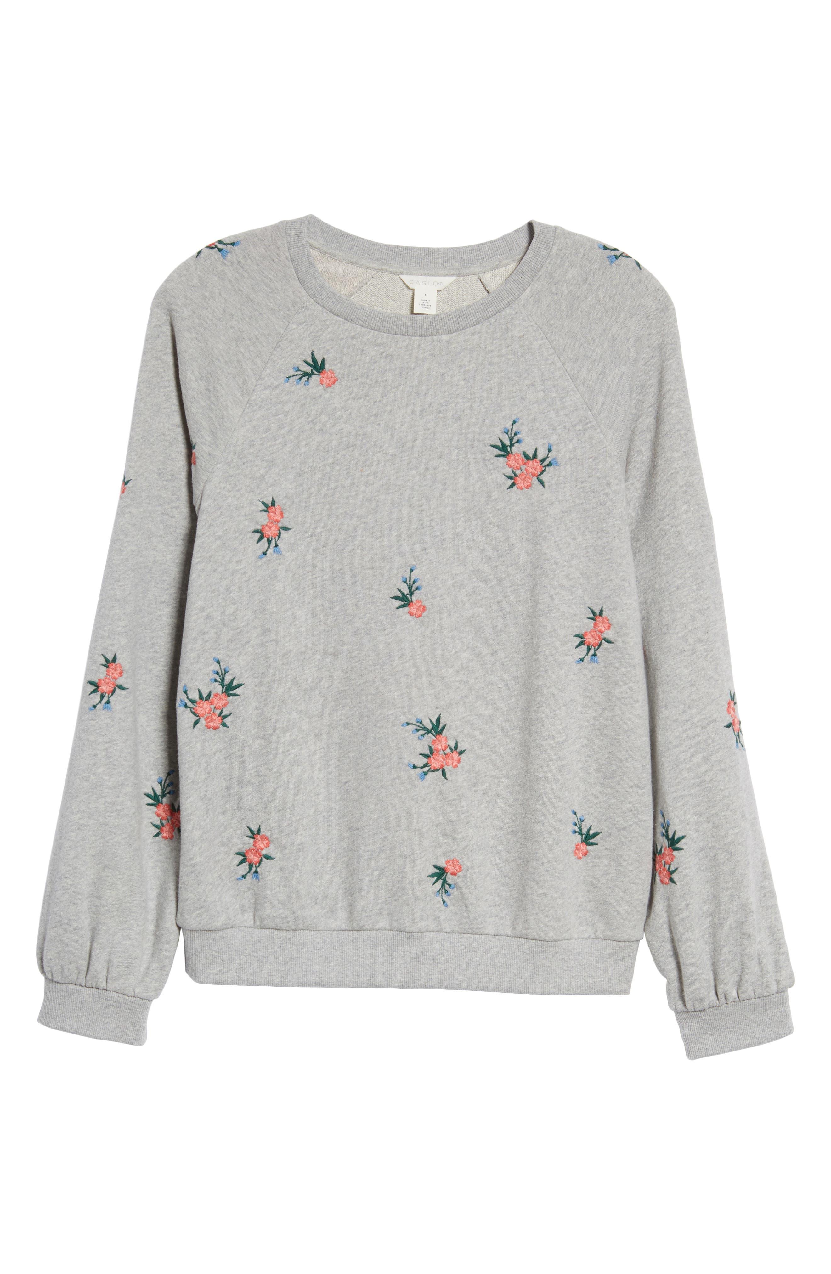 Embroidered Sweatshirt,                             Alternate thumbnail 6, color,                             030