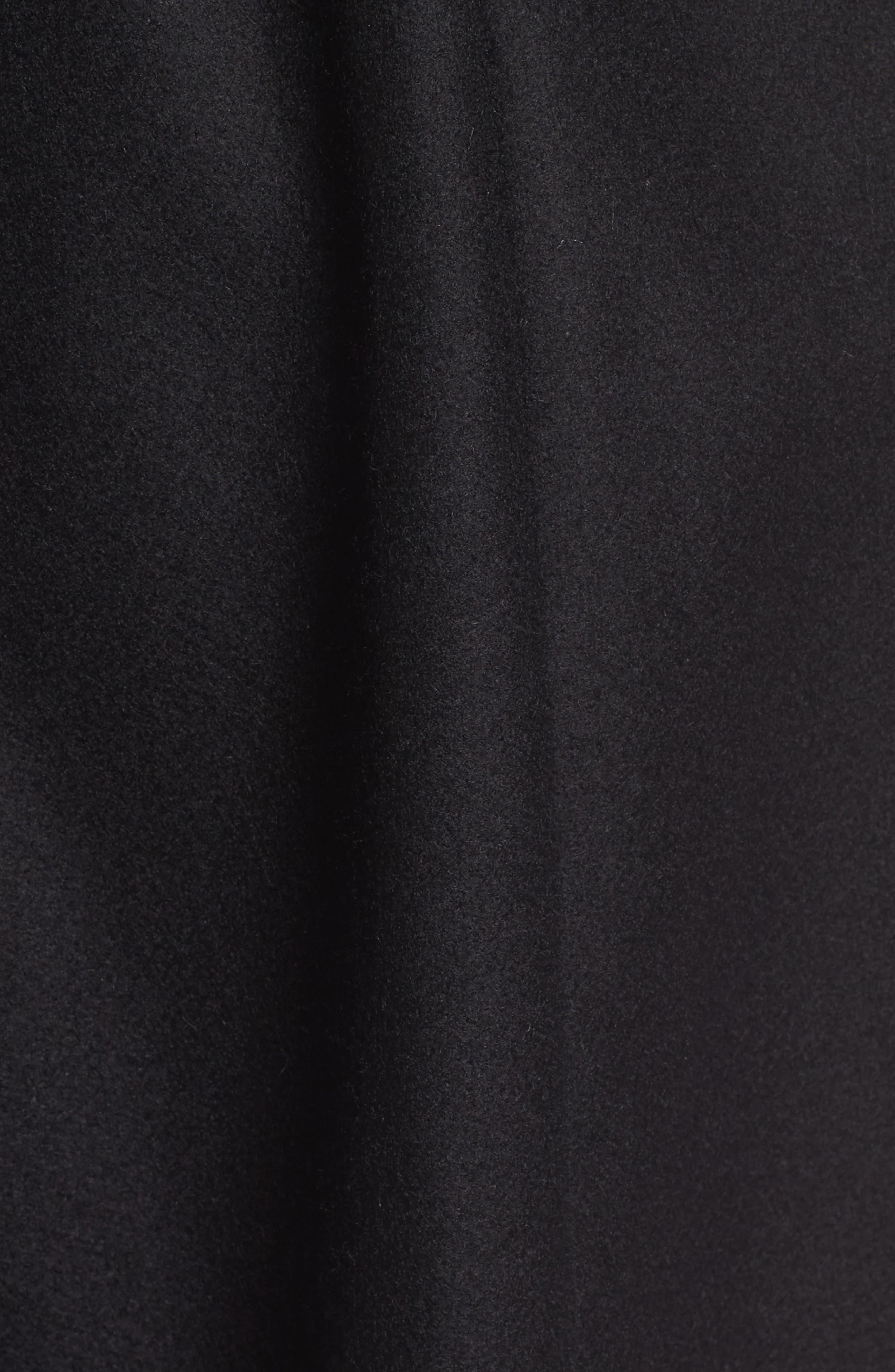 Wool Blend Long Wrap Coat,                             Alternate thumbnail 7, color,                             BLACK