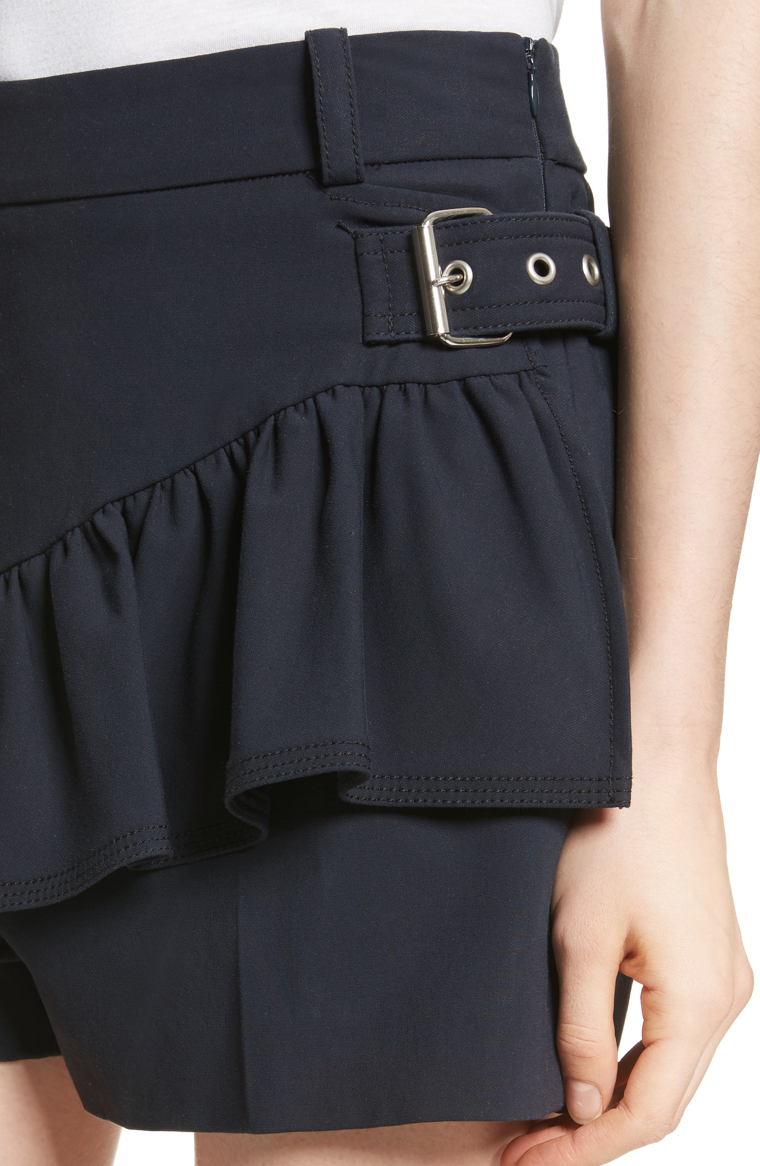 Ruffle Apron Shorts,                             Alternate thumbnail 4, color,                             401