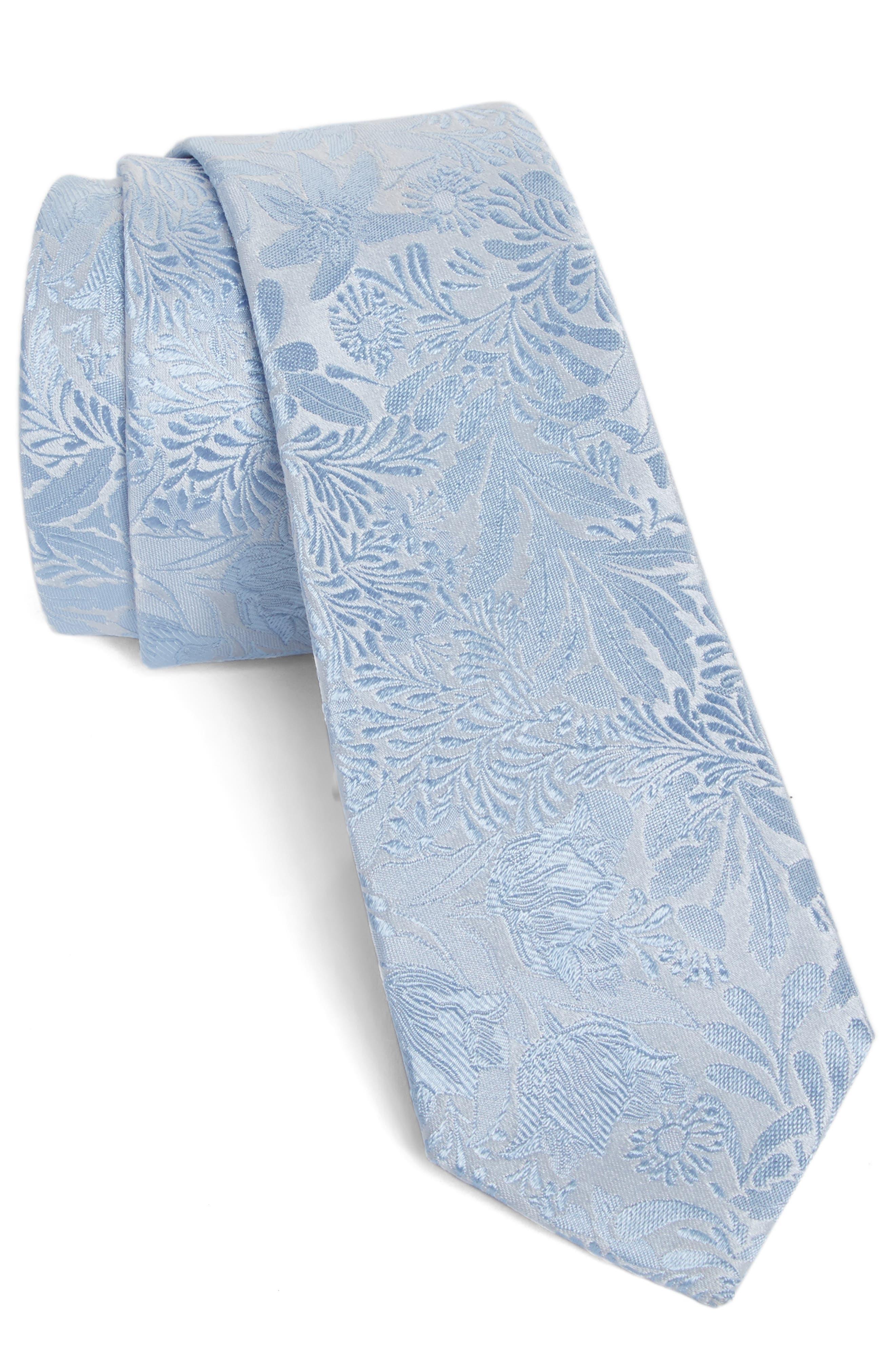 Tonal Floral Silk Tie,                             Main thumbnail 2, color,