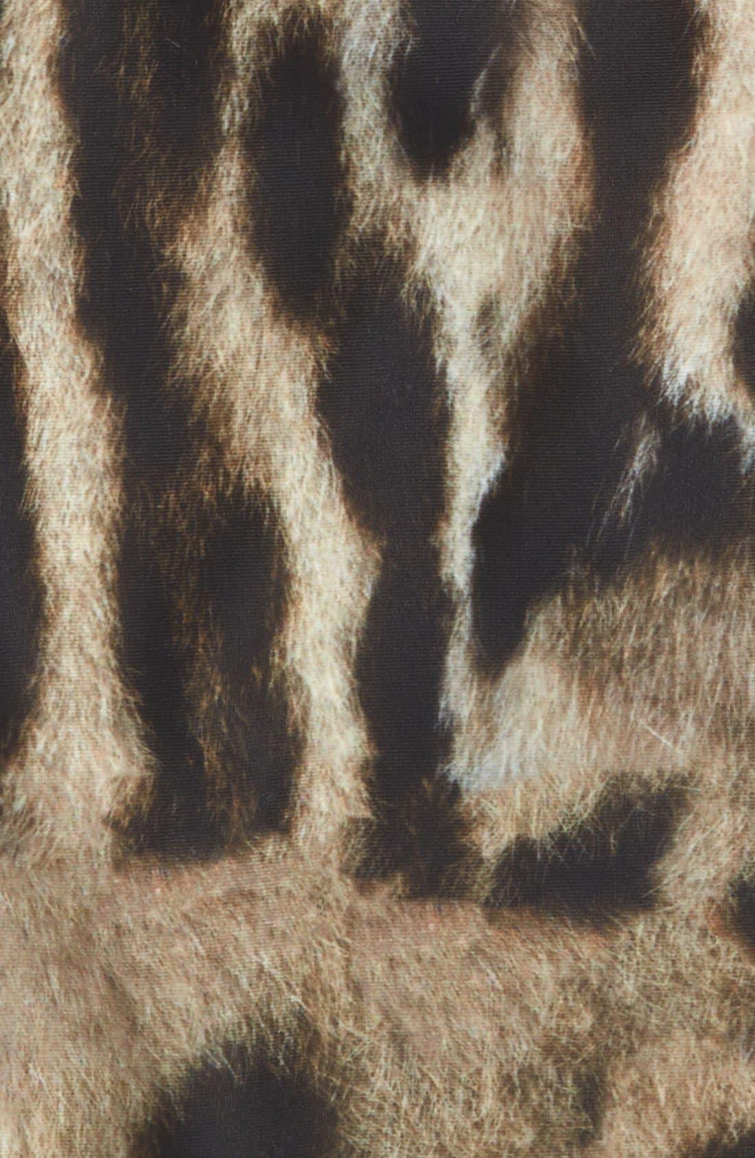 Leopard Print One-Piece Swimsuit,                             Alternate thumbnail 2, color,                             215