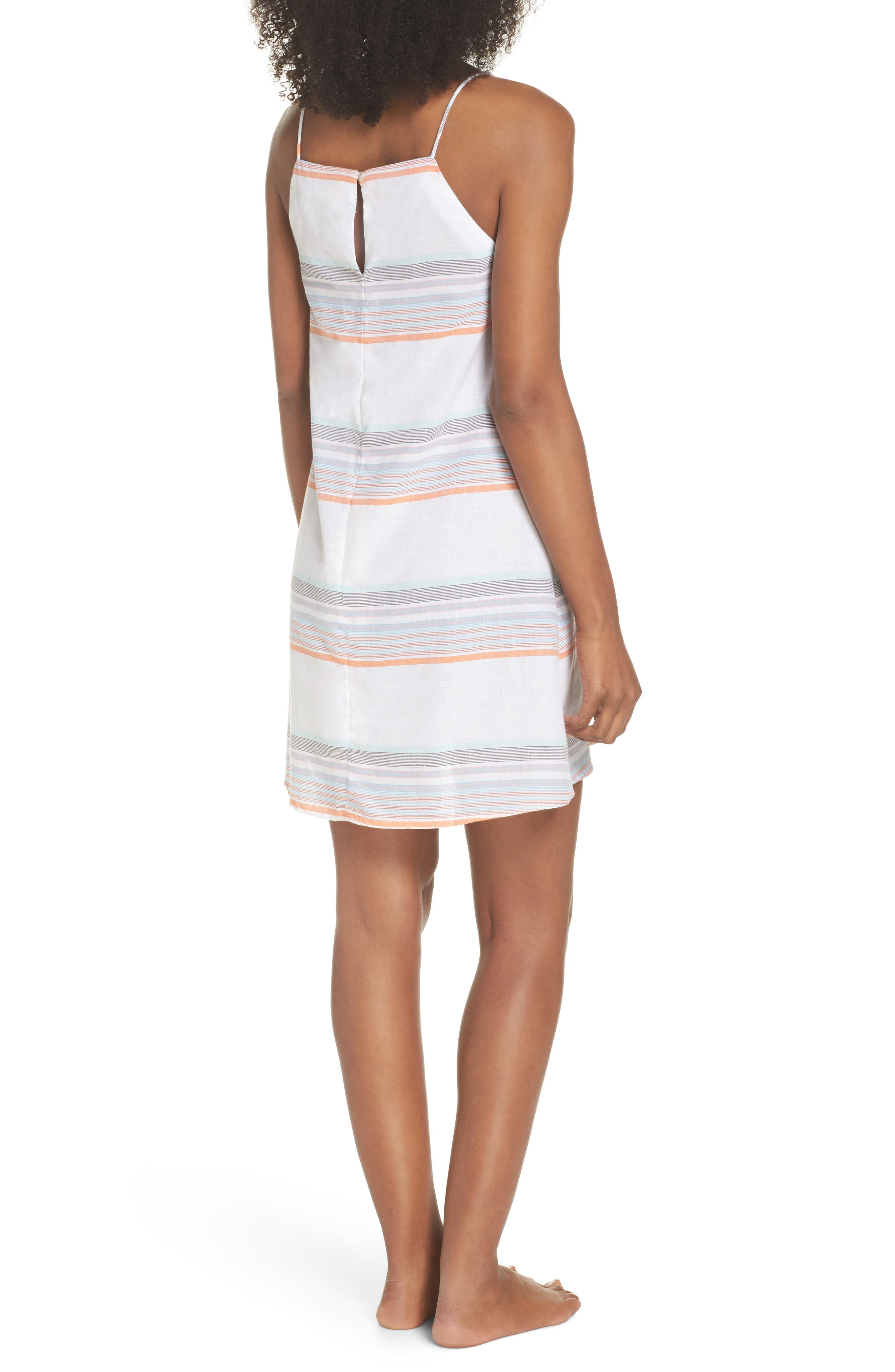 Sunset Stripe Cover-Up Dress,                             Alternate thumbnail 2, color,                             100