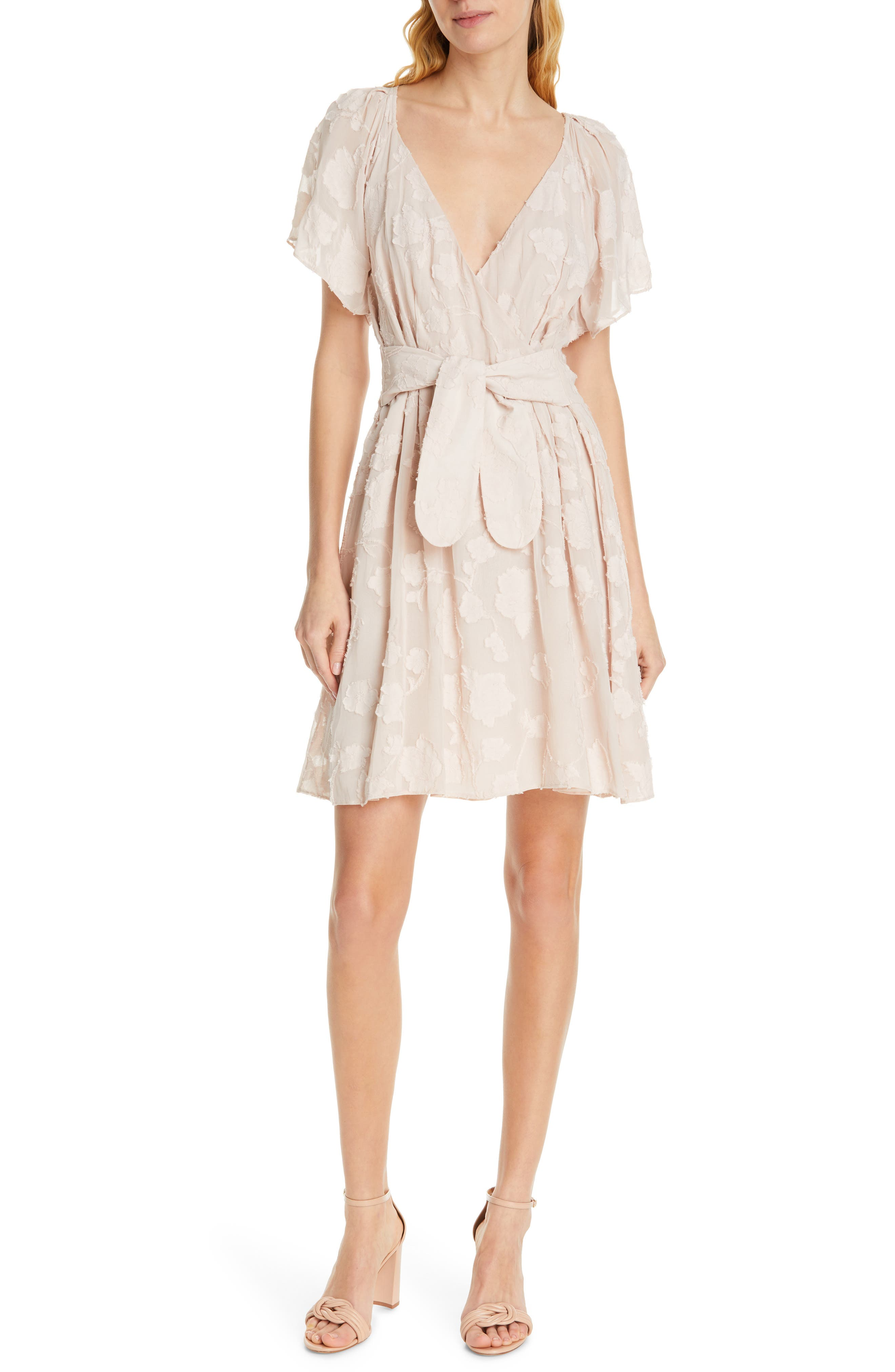 Joie Leighan Burnout Wrap Dress, Pink