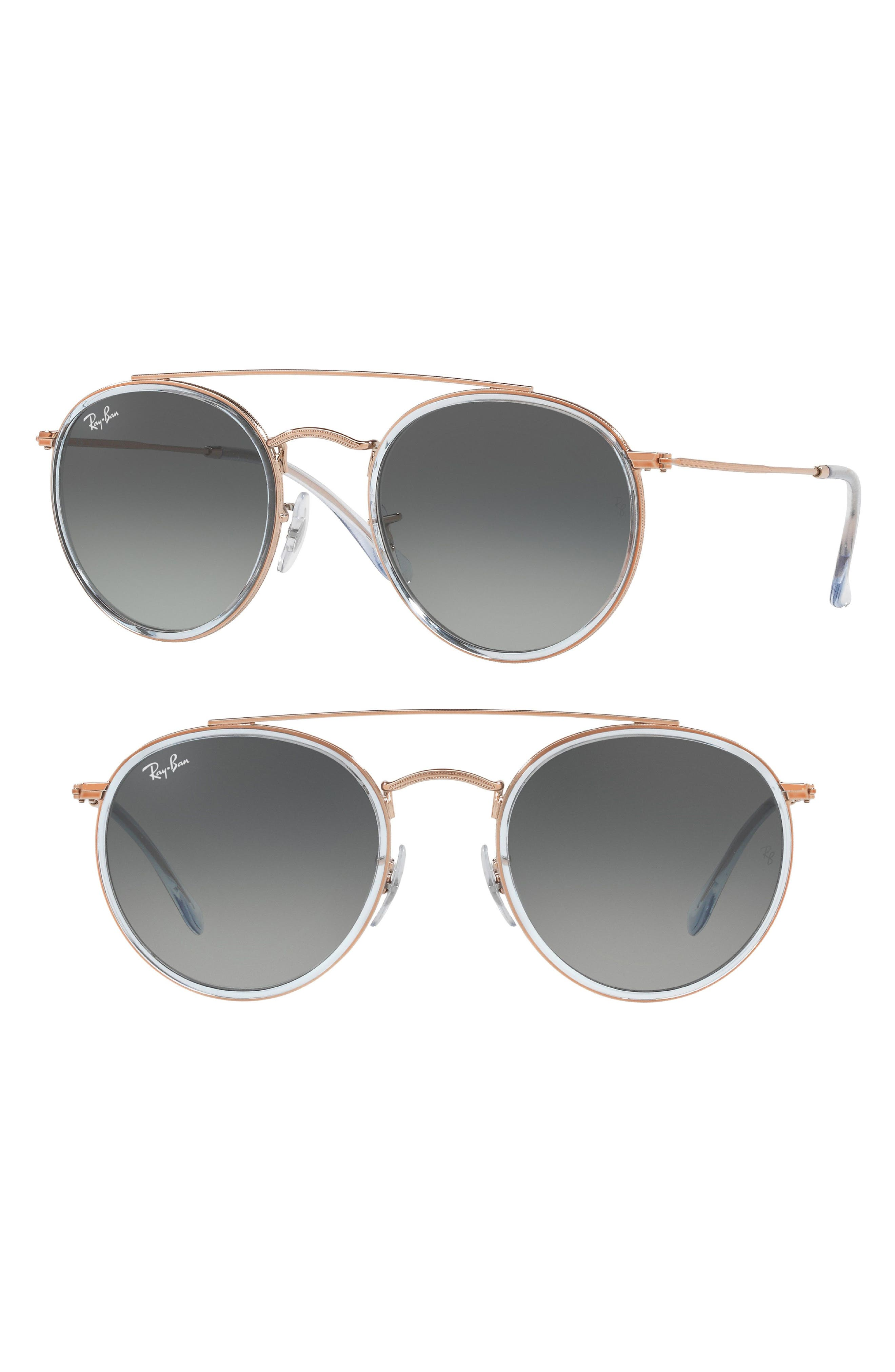 51mm Aviator Gradient Lens Sunglasses,                             Main thumbnail 3, color,