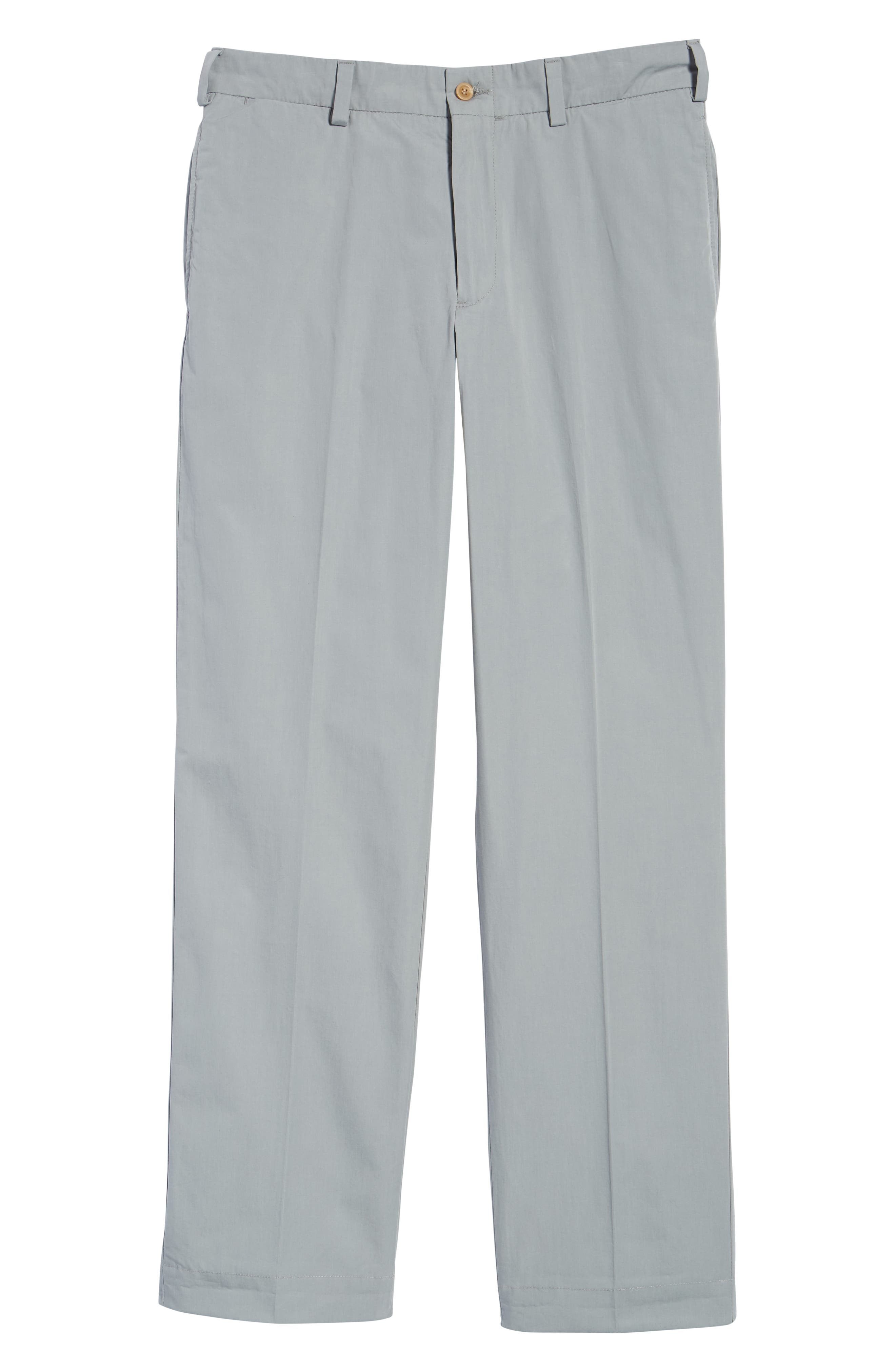 Classic Fit Tropical Poplin Pants,                             Alternate thumbnail 6, color,                             NICKEL