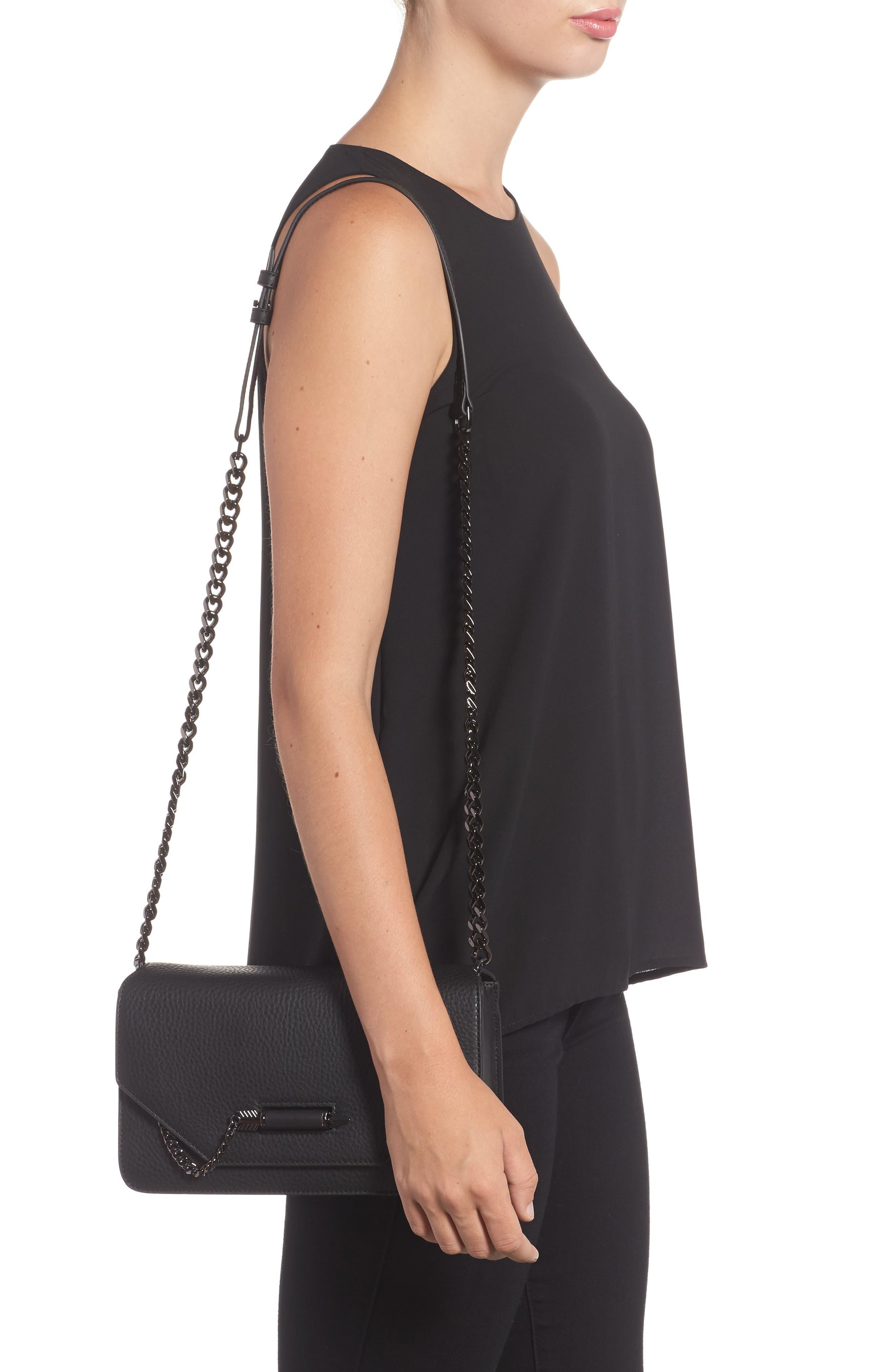 Cortney Nappa Leather Shoulder/Crossbody Bag,                             Alternate thumbnail 5, color,