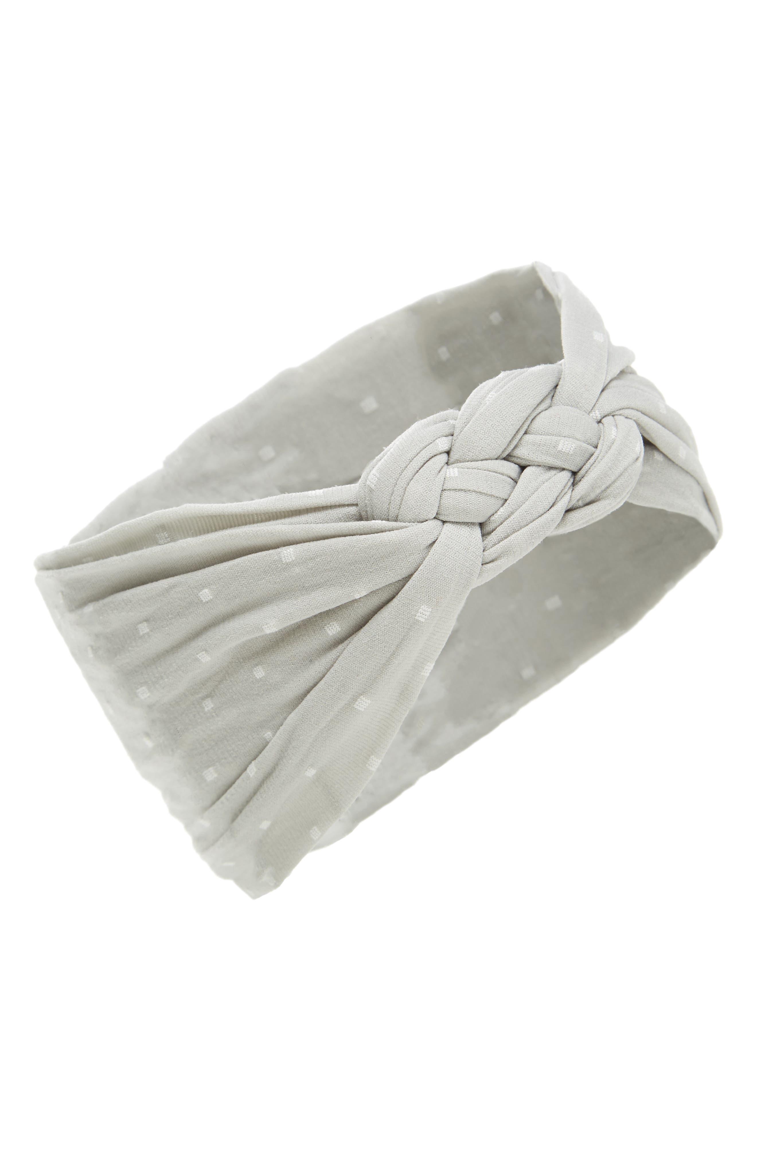 Sailor Knot Headband,                         Main,                         color, GREY DOT