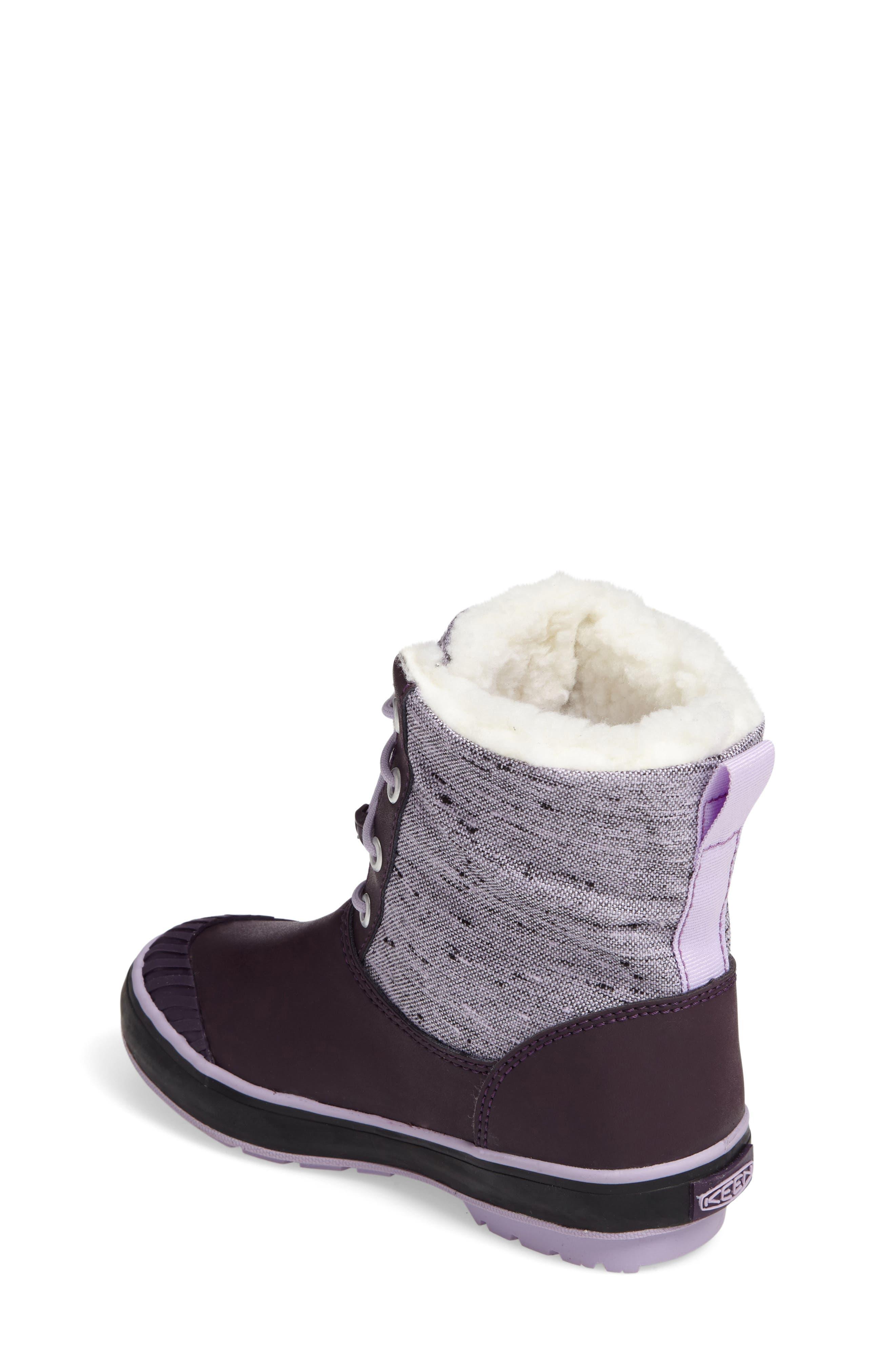 Elsa Waterproof Faux Fur Lined Snow Boot,                             Alternate thumbnail 9, color,