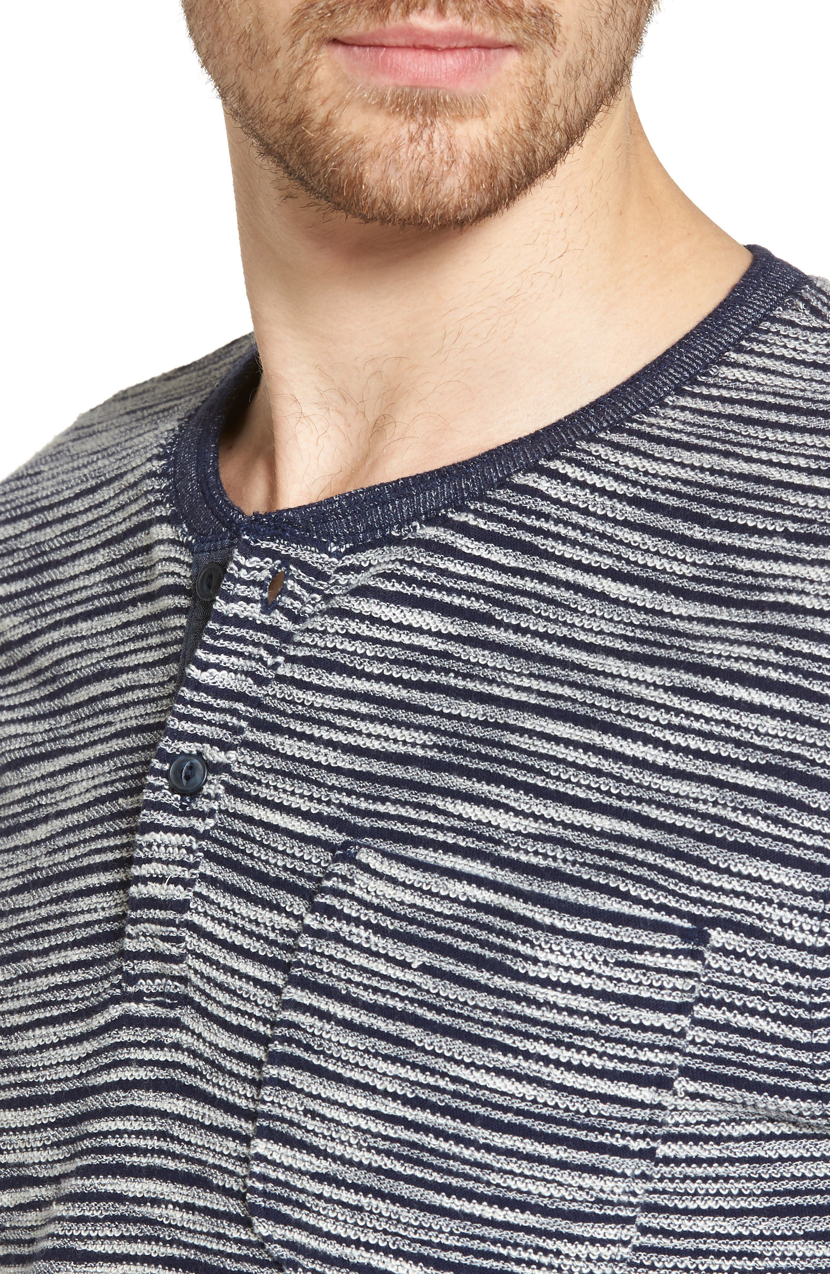 Textured Henley,                             Alternate thumbnail 4, color,