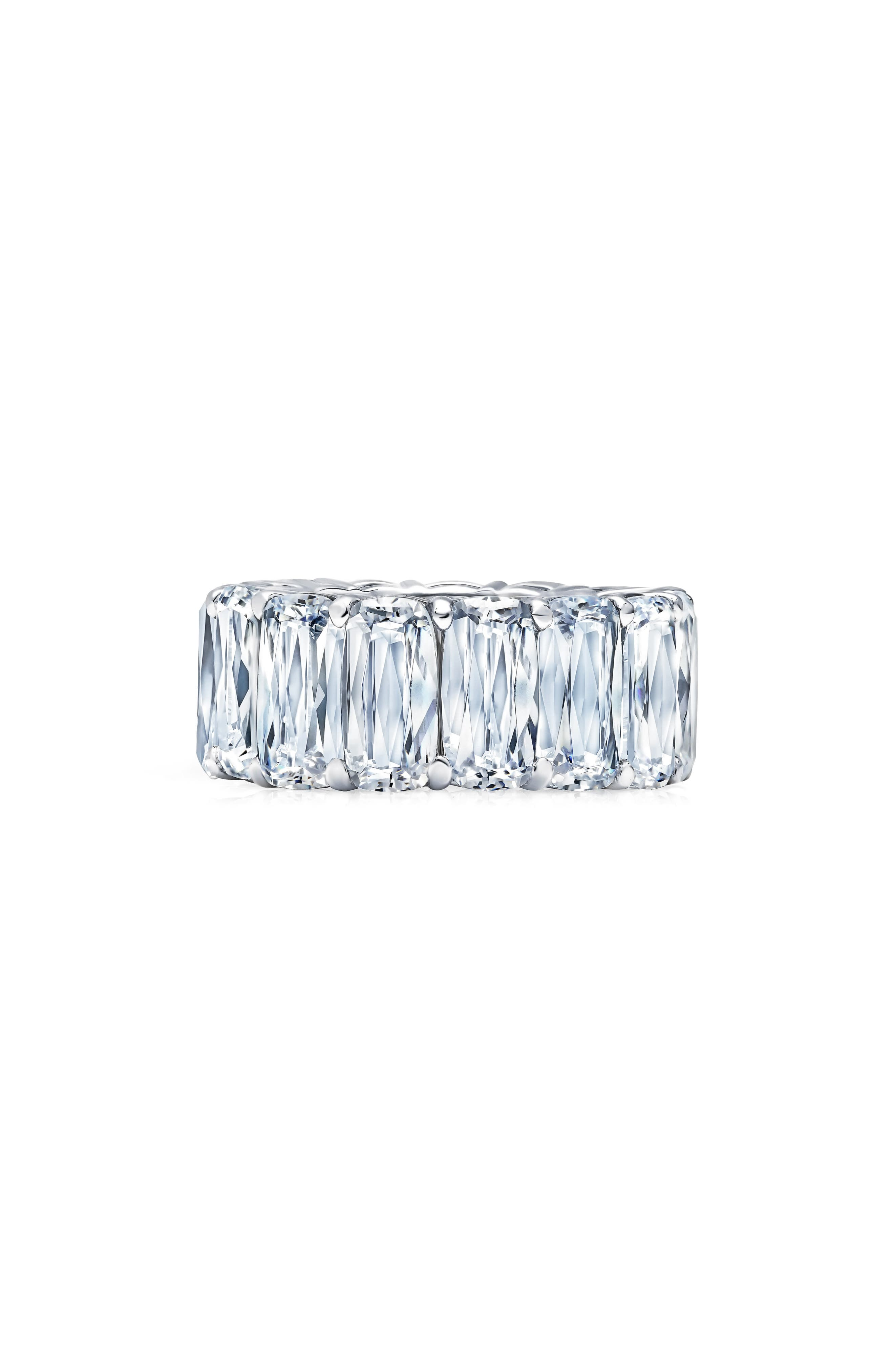 Oversized Eternity Band,                             Main thumbnail 1, color,                             SILVER/ CLEAR
