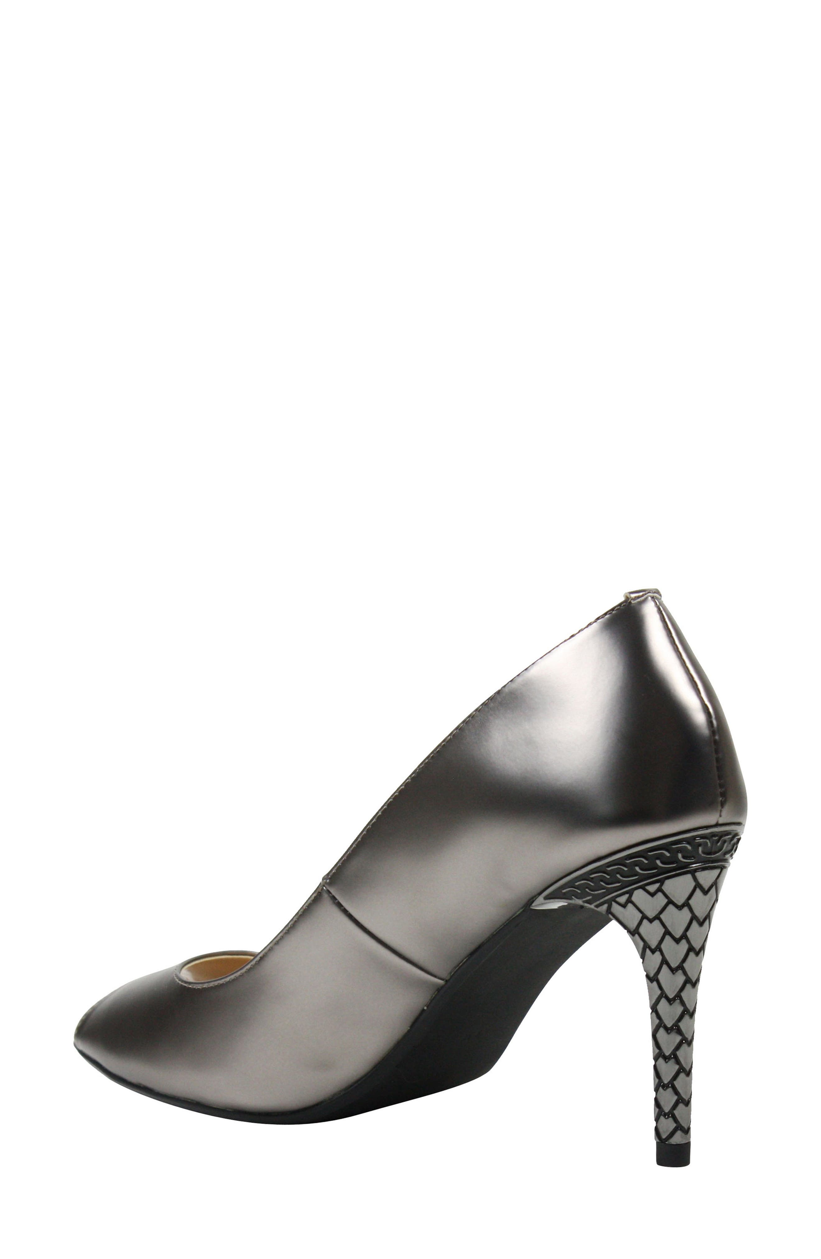 Lucera Pump,                             Alternate thumbnail 2, color,                             PEWTER FAUX LEATHER