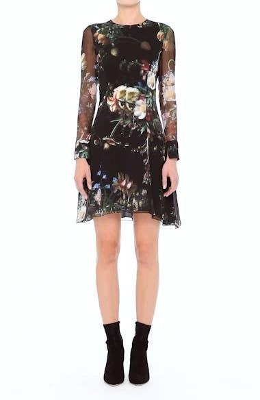 Floral Print Silk Minidress, video thumbnail