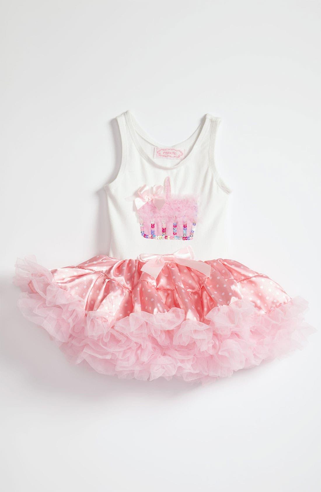 'Cupcake' Petticoat Dress,                             Main thumbnail 1, color,                             PINK