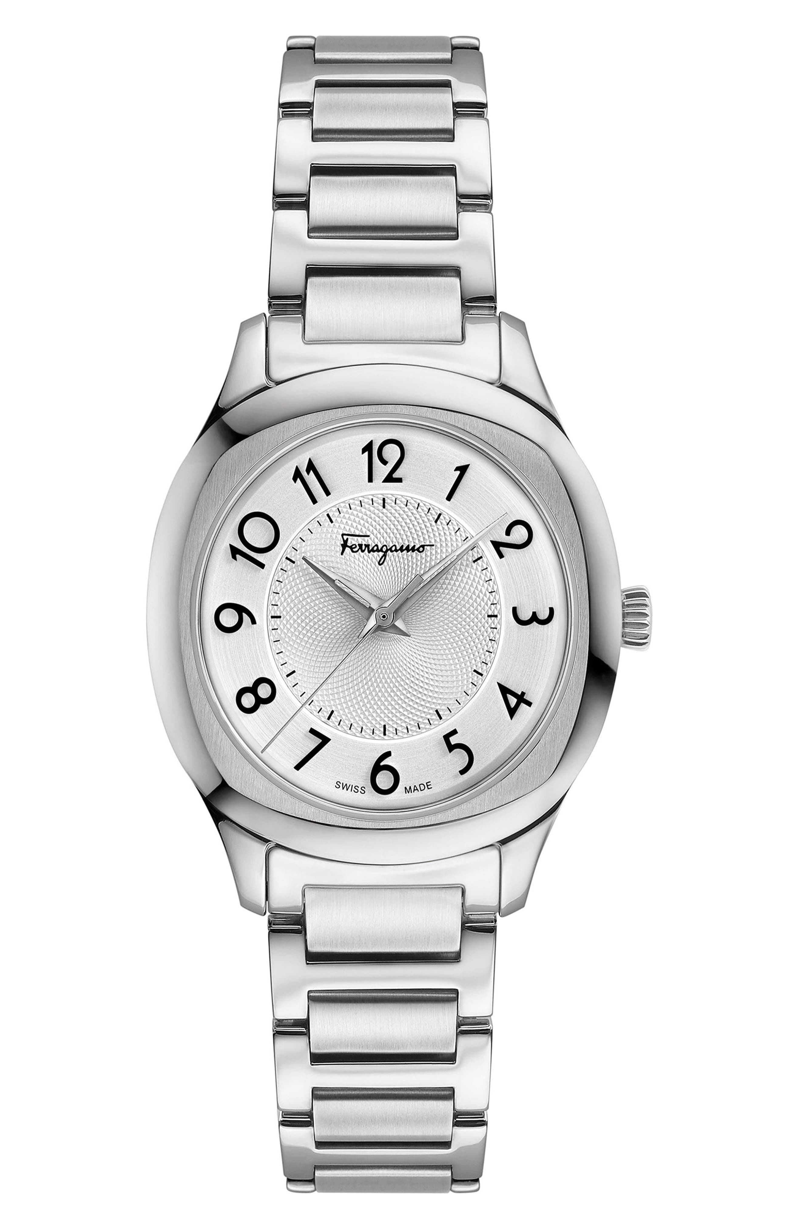 Feroni Bracelet Watch, 36mm,                             Main thumbnail 1, color,                             SILVER