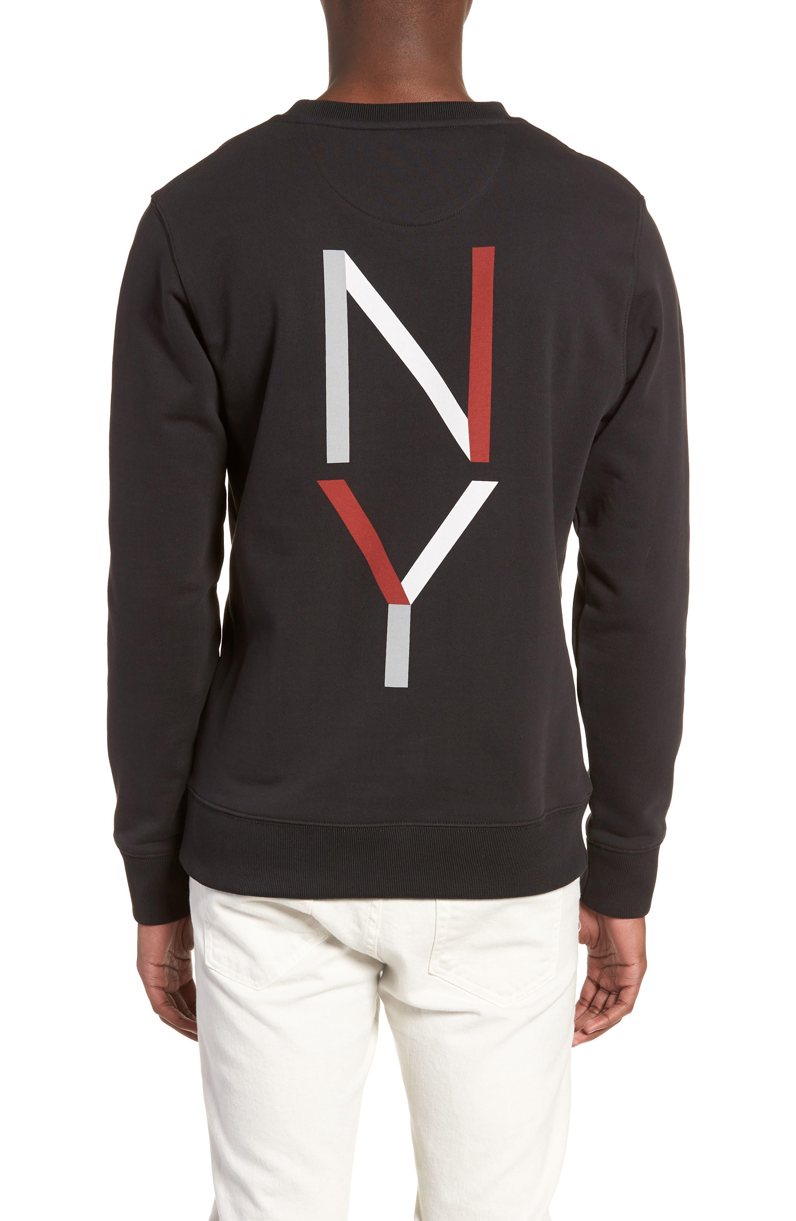 Bowery NY Sweatshirt,                             Alternate thumbnail 2, color,                             001