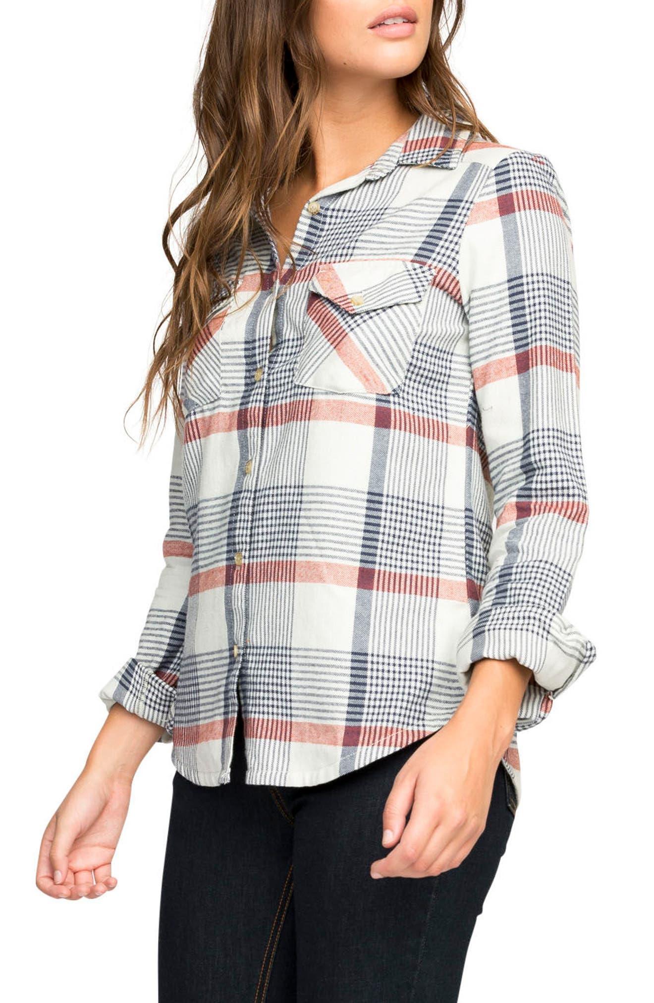 Plaid Flannel Shirt,                             Alternate thumbnail 16, color,