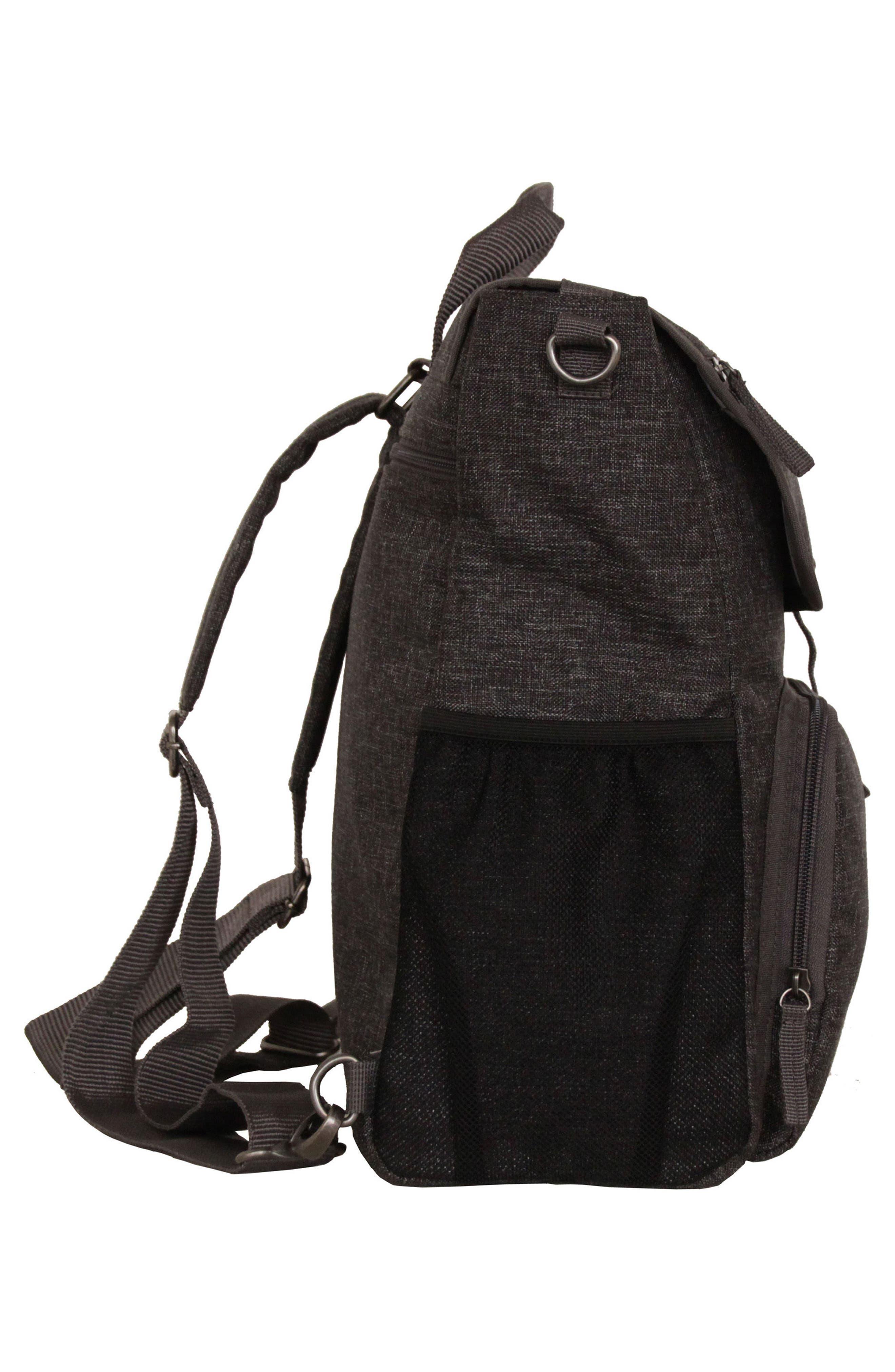 Convertible Diaper Backpack,                             Alternate thumbnail 4, color,                             001