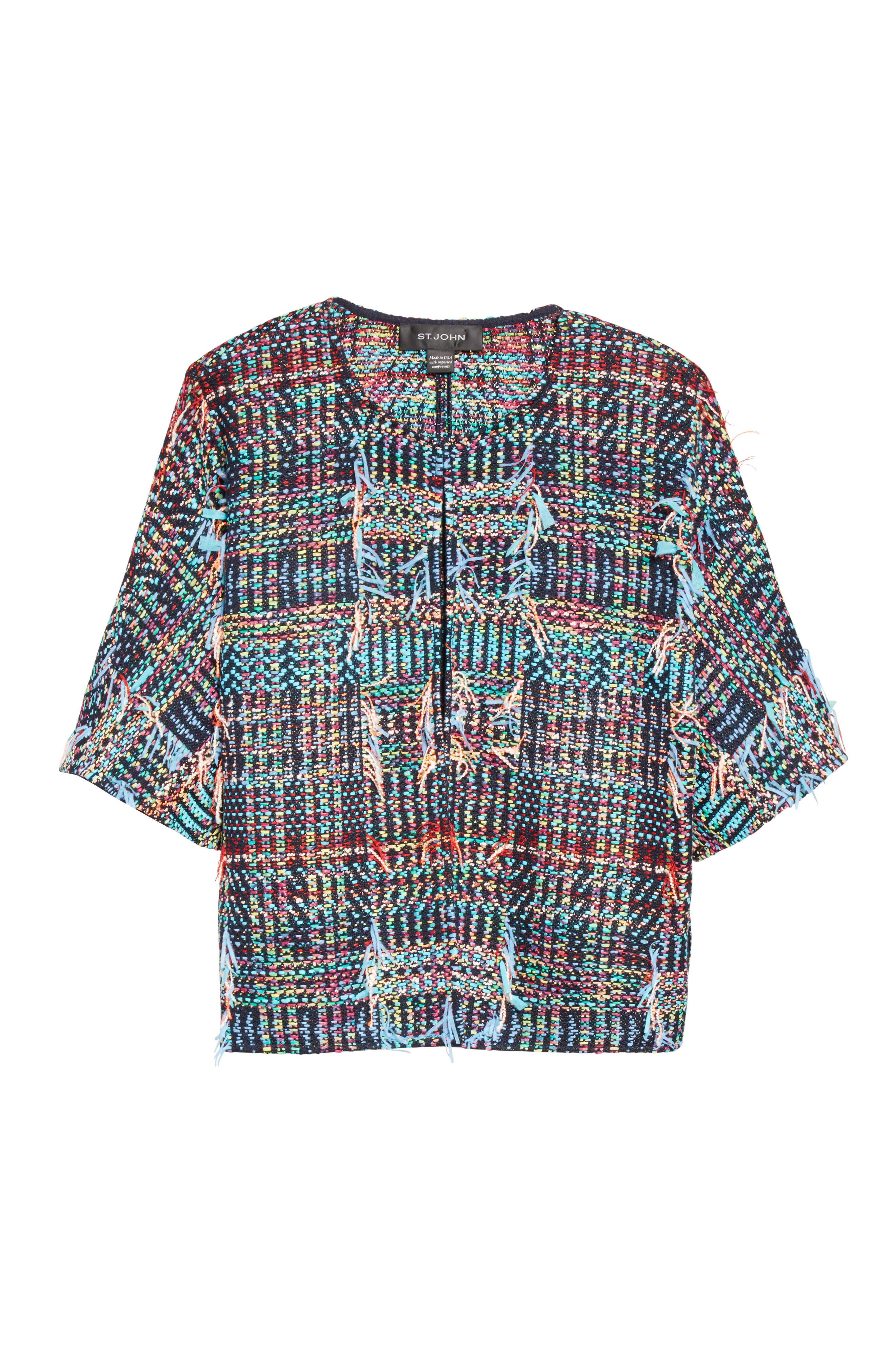 Dara Fringe Knit Jacket,                             Alternate thumbnail 2, color,