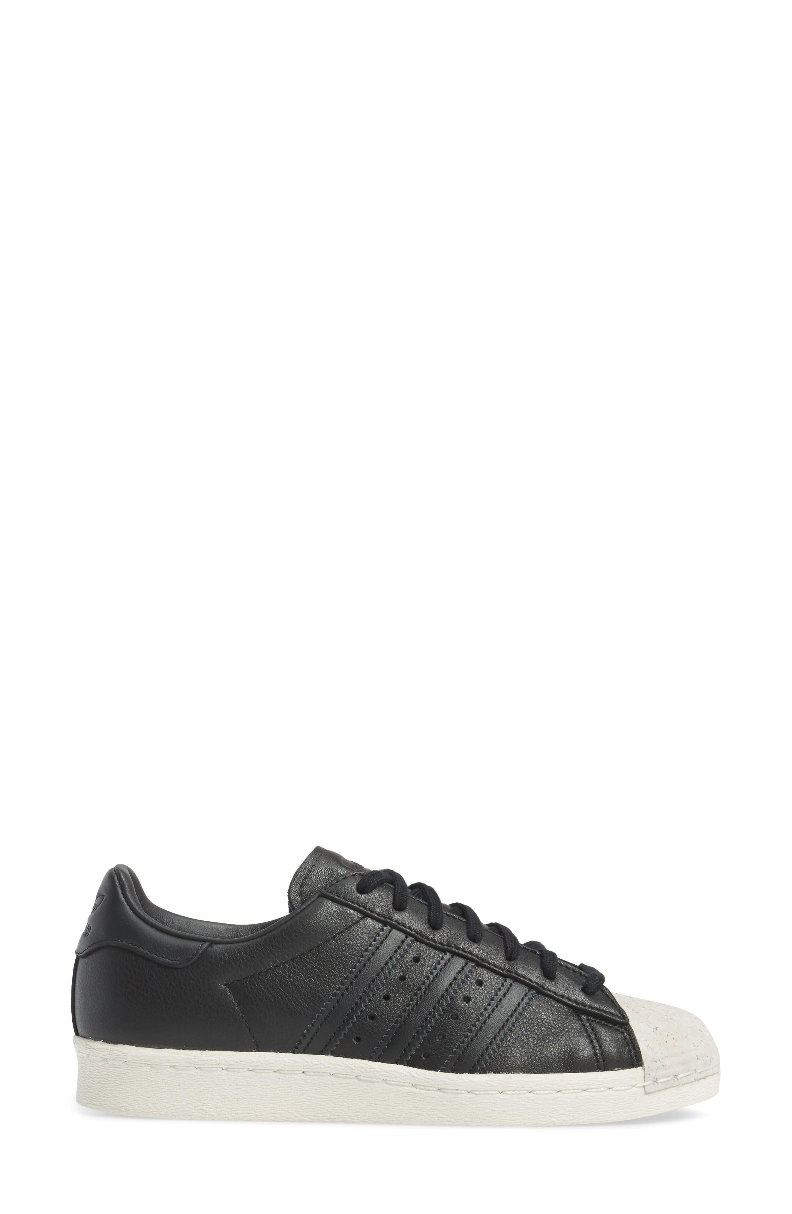 Superstar 80s Sneaker,                             Alternate thumbnail 3, color,                             001