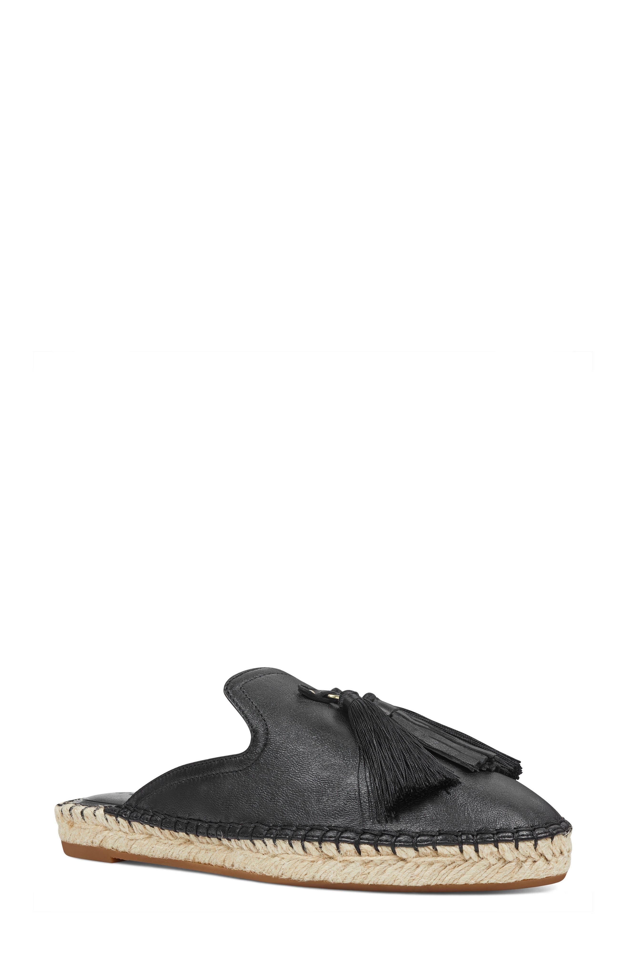 Val Tasseled Loafer Mule,                         Main,                         color, 001