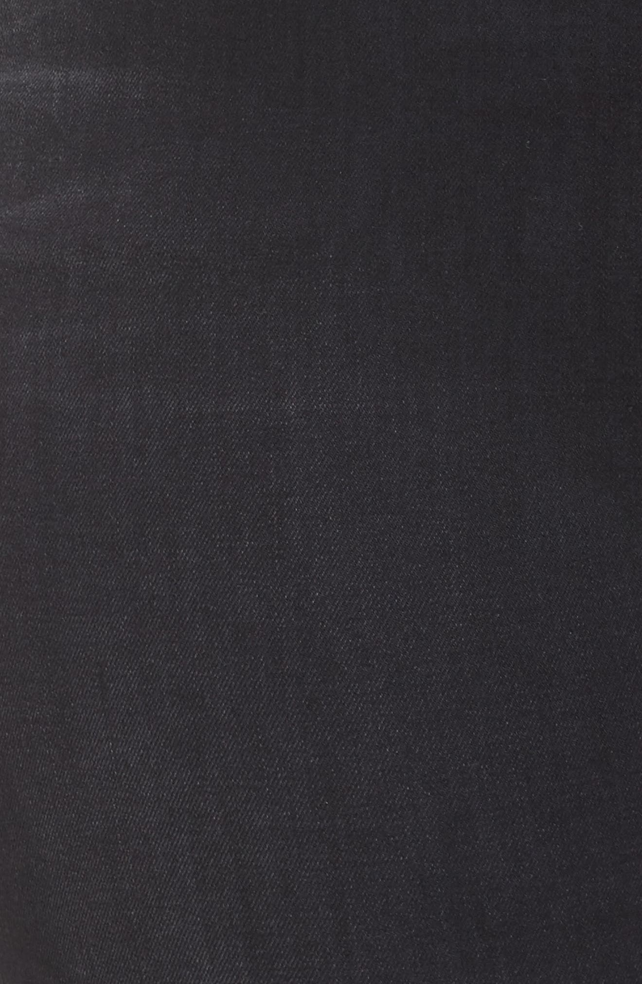 Good Waist Fray Hem Skinny Jeans,                             Alternate thumbnail 5, color,                             001