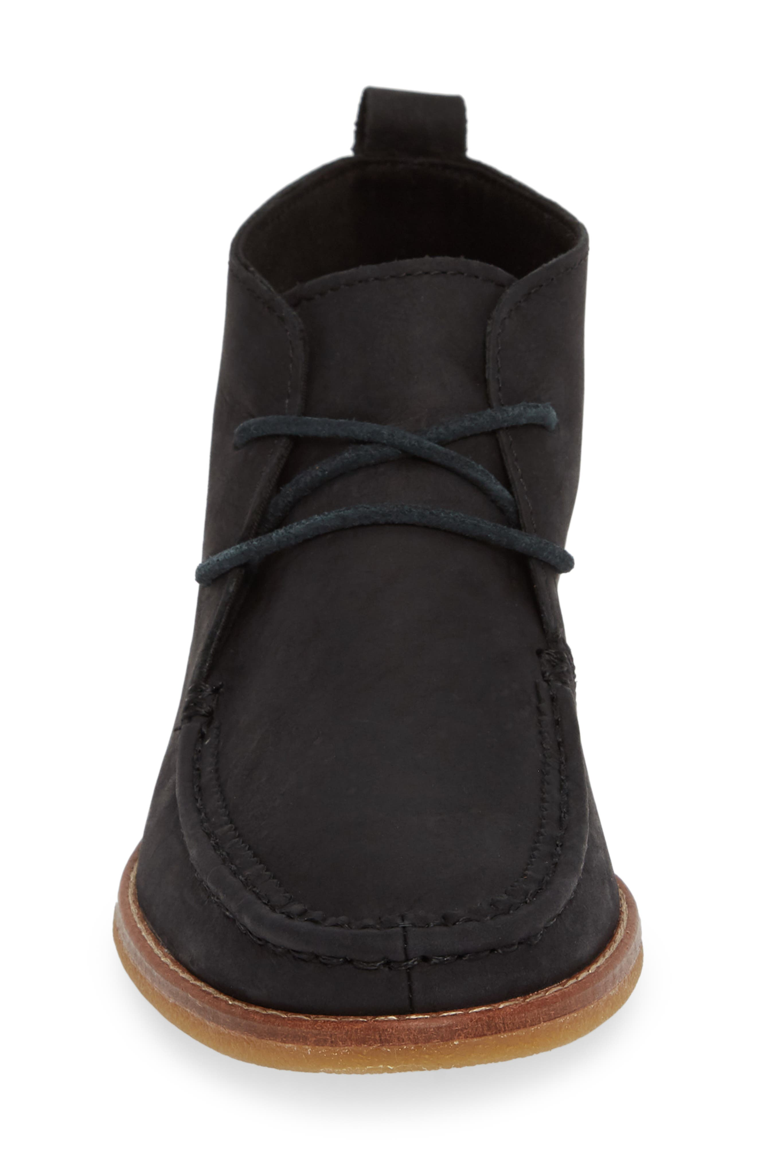 Seaport Tahoe Chukka Bootie,                             Alternate thumbnail 4, color,                             BLACK SUEDE