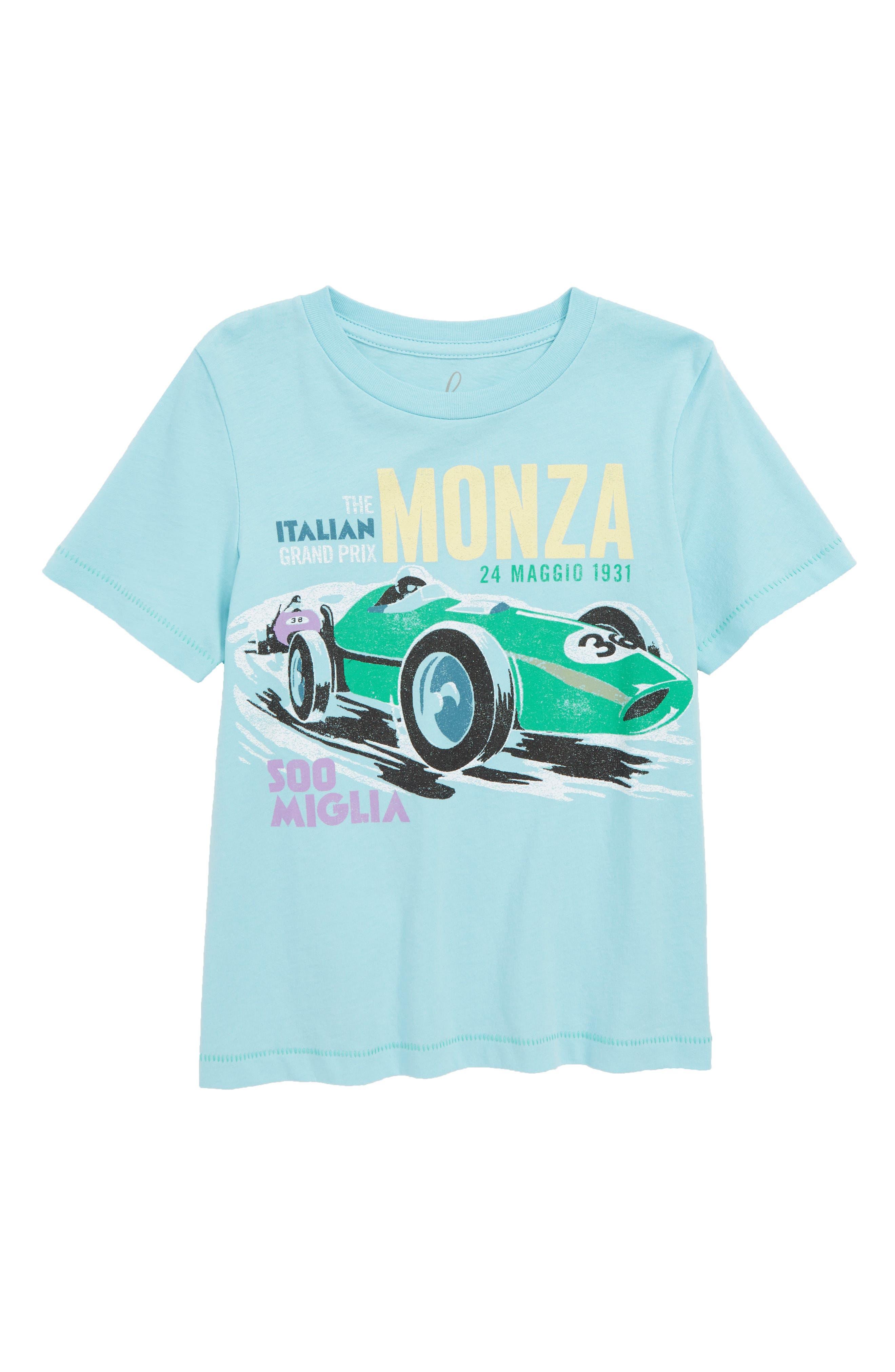 Monza T-Shirt,                         Main,                         color, LIGHT BLUE