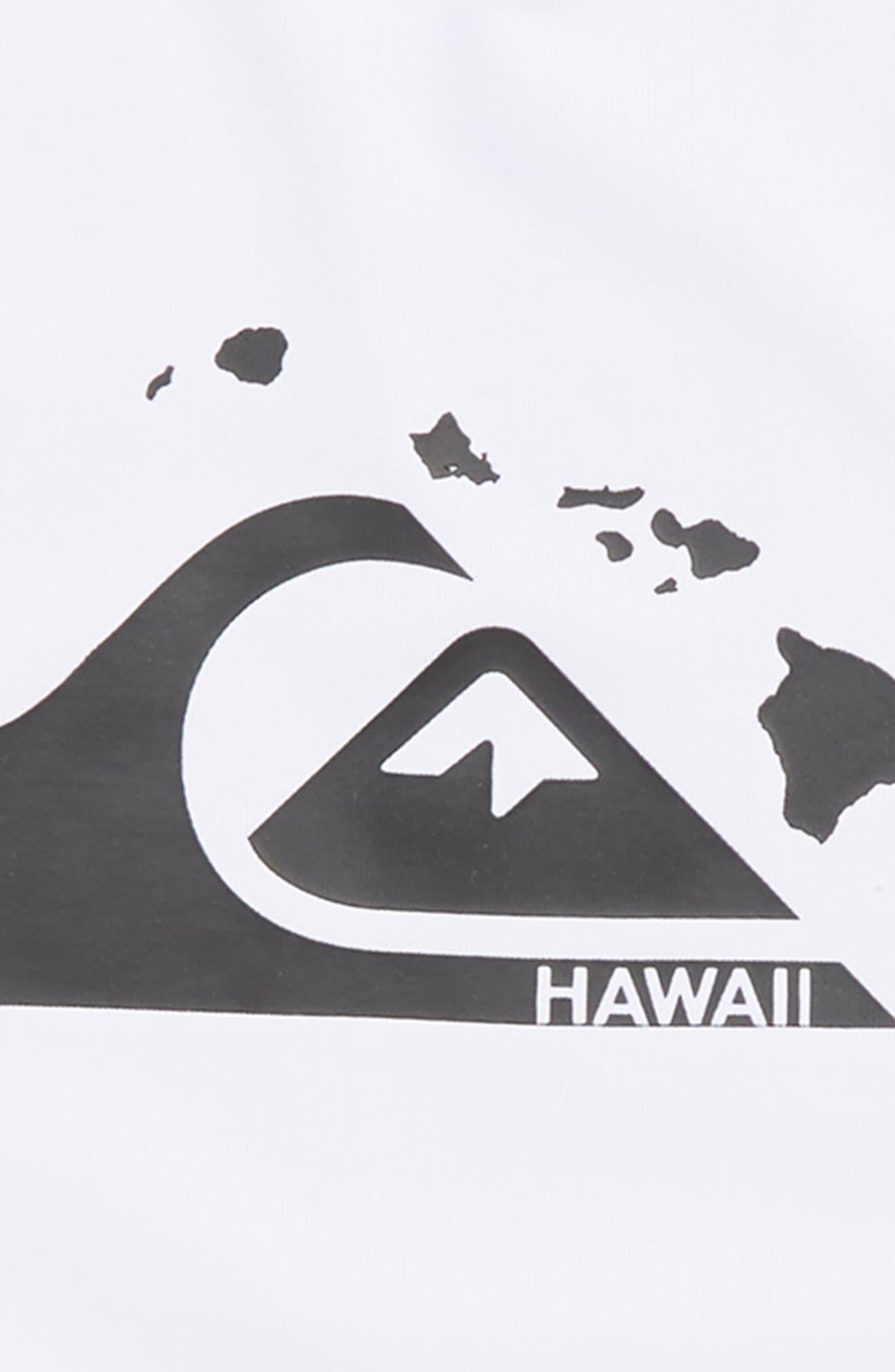 Island Chains Short Sleeve Rashguard,                             Alternate thumbnail 2, color,                             WHITE