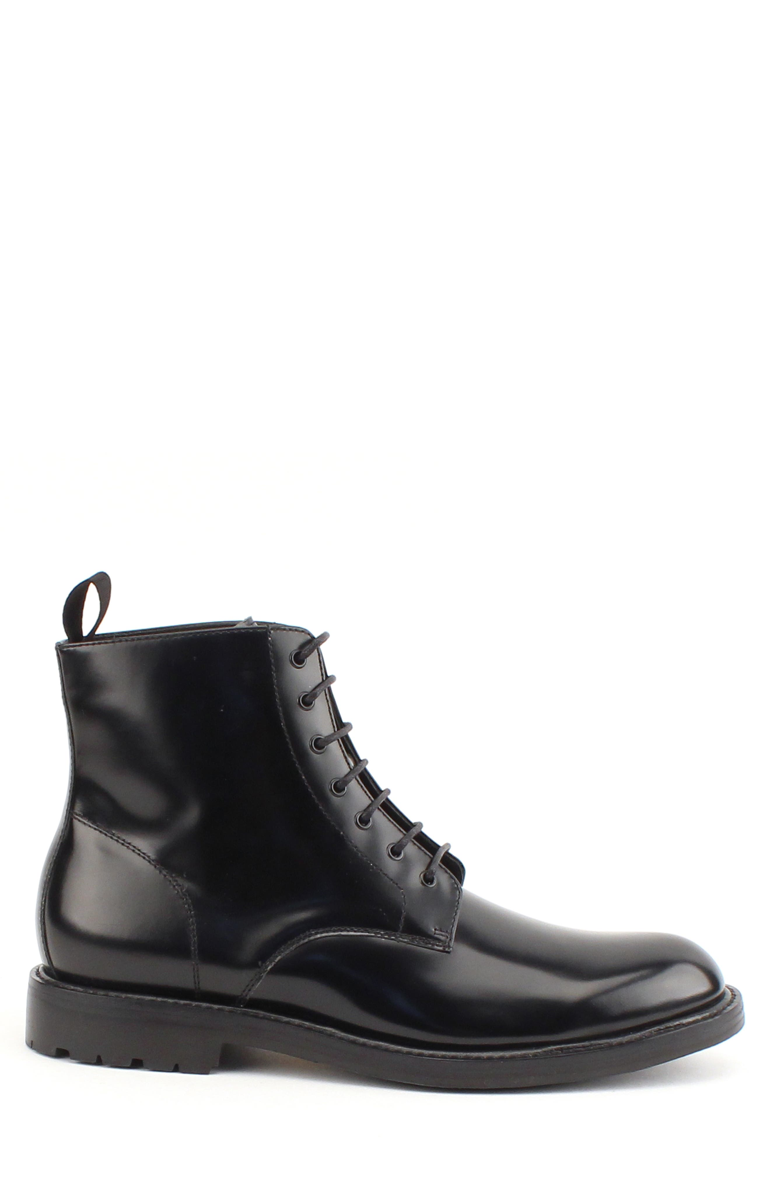 Raleigh Combat Boot,                             Alternate thumbnail 3, color,                             BLACK