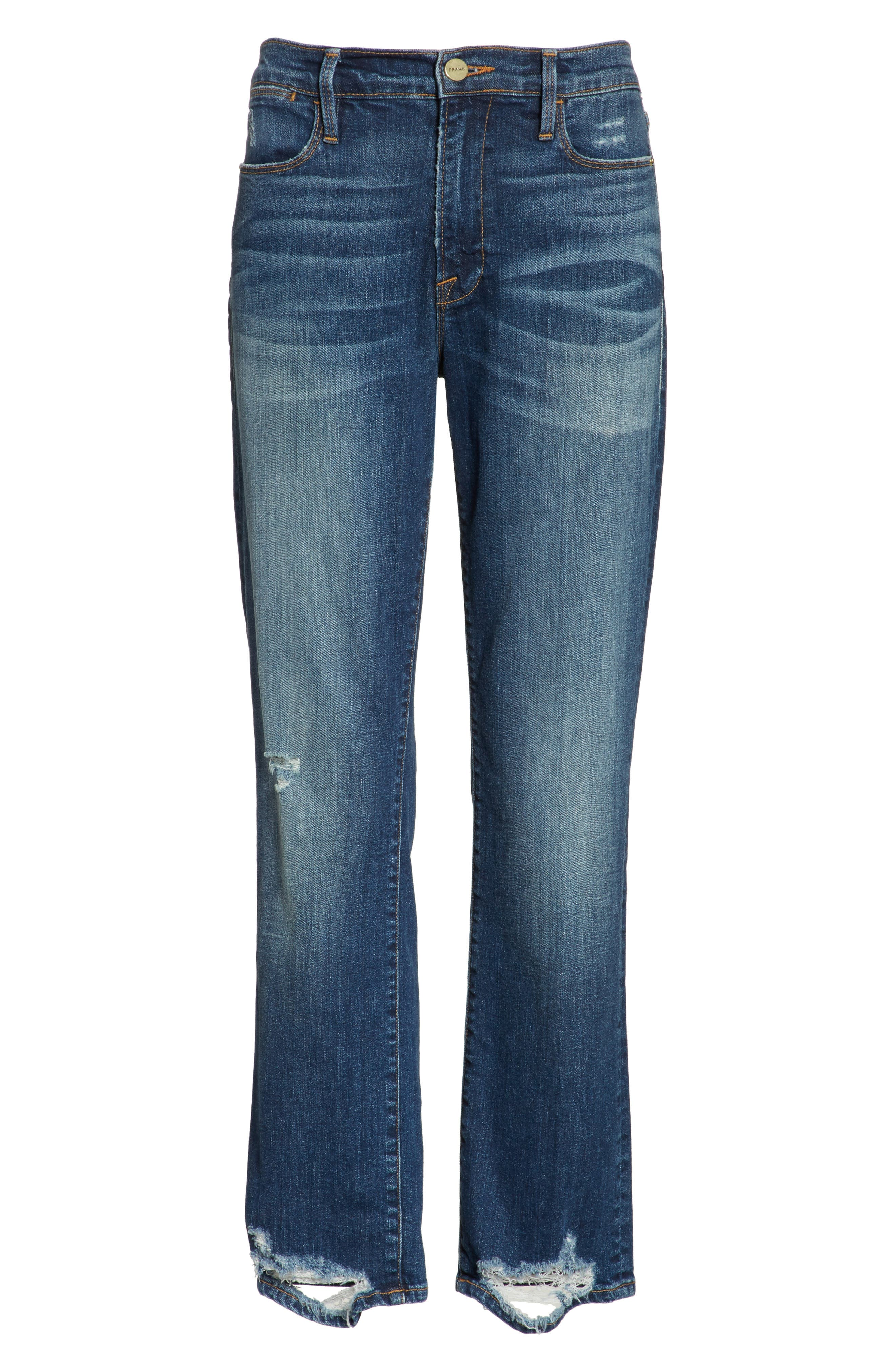 Le High Straight High Rise Jeans,                             Alternate thumbnail 6, color,                             402
